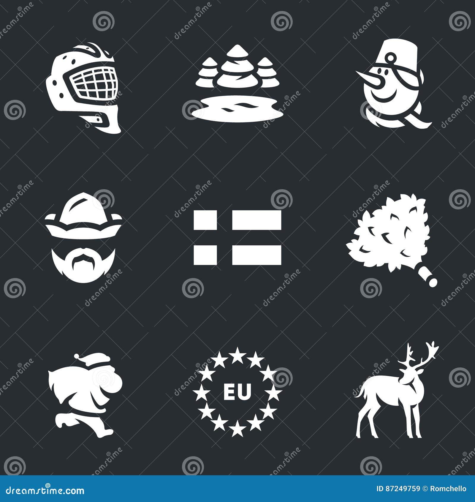 Vector Set of Finland. stock vector. Illustration of ...