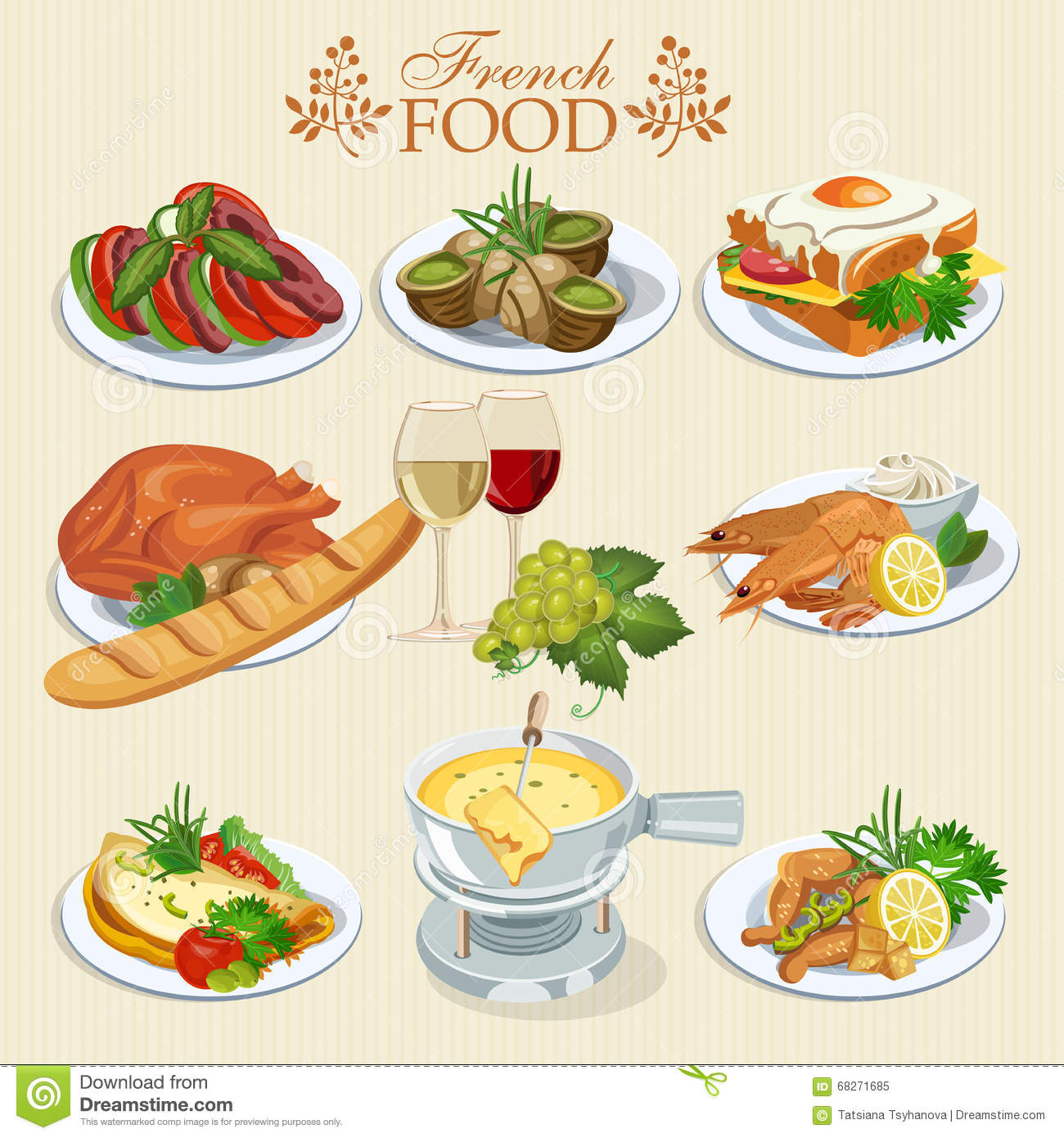 ... menu. Background for menu, cafeteria, cafe, restaurant with french French Menu Clipart