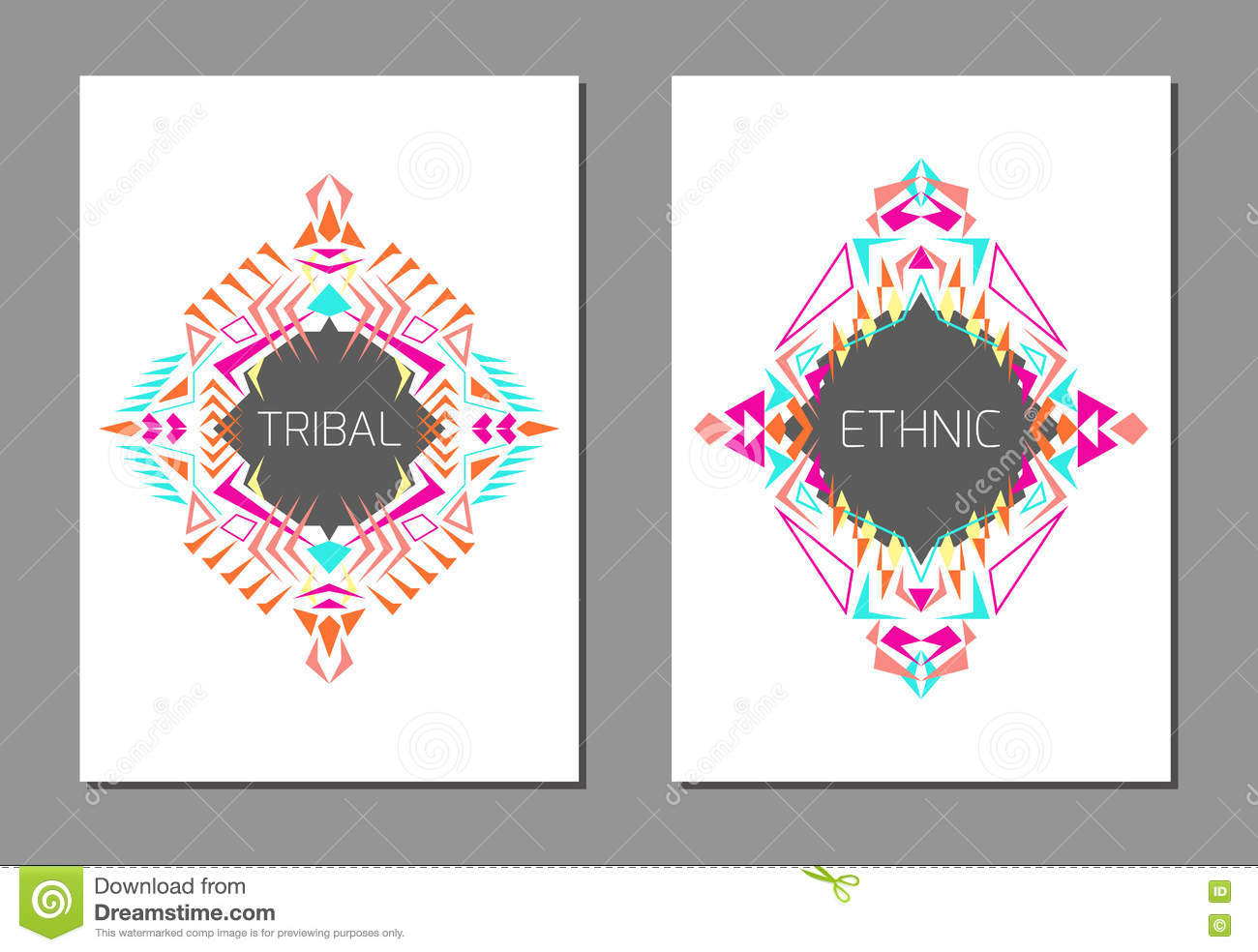 Vector set of geometric colorful brochure templates for for Colorful brochure templates