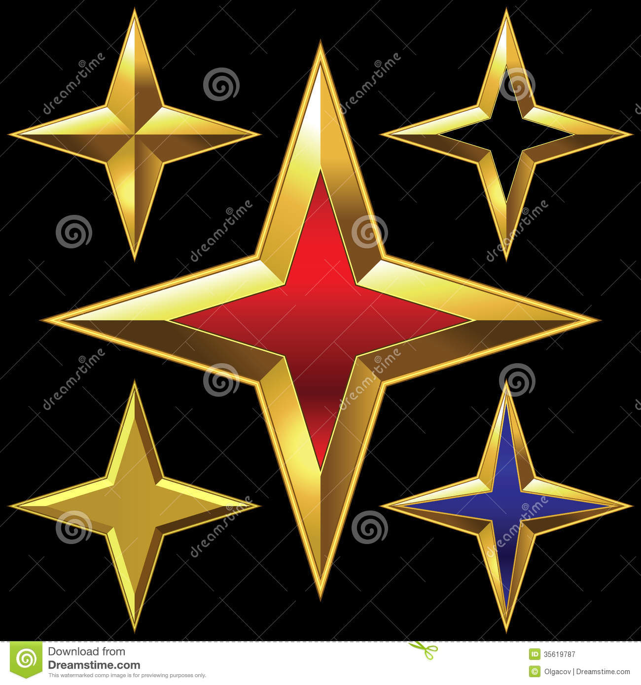 Four point stars royalty free stock photography image 35619787