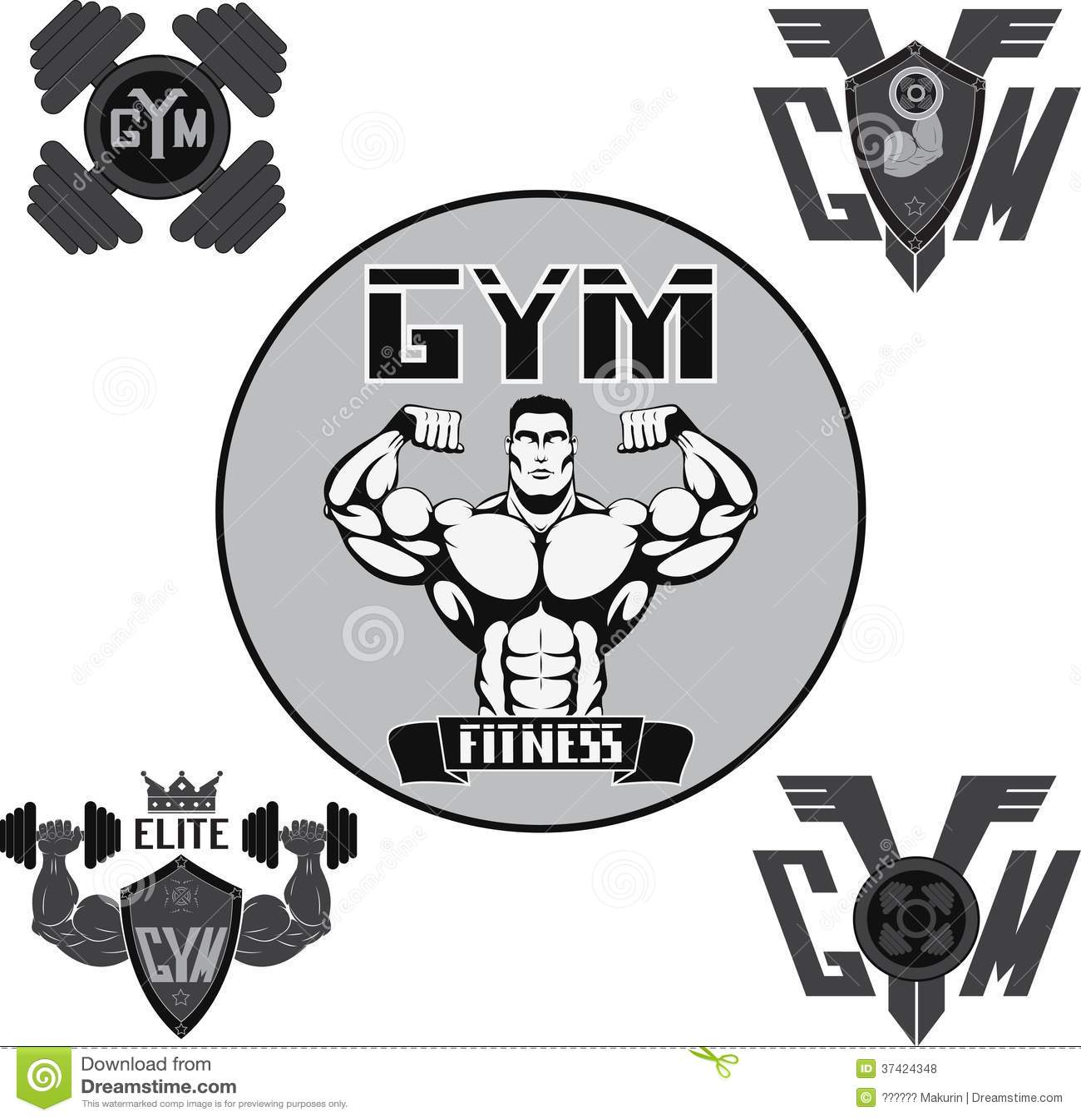 Vector set gym royalty free stock photos image