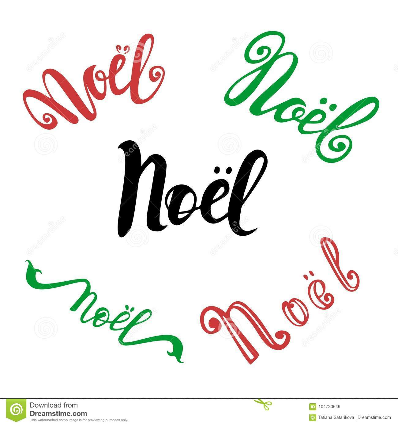 Vector set of hand drawn calligraphy noel isolated lettering text vector set of hand drawn calligraphy noel isolated lettering text for french christmas greeting card m4hsunfo