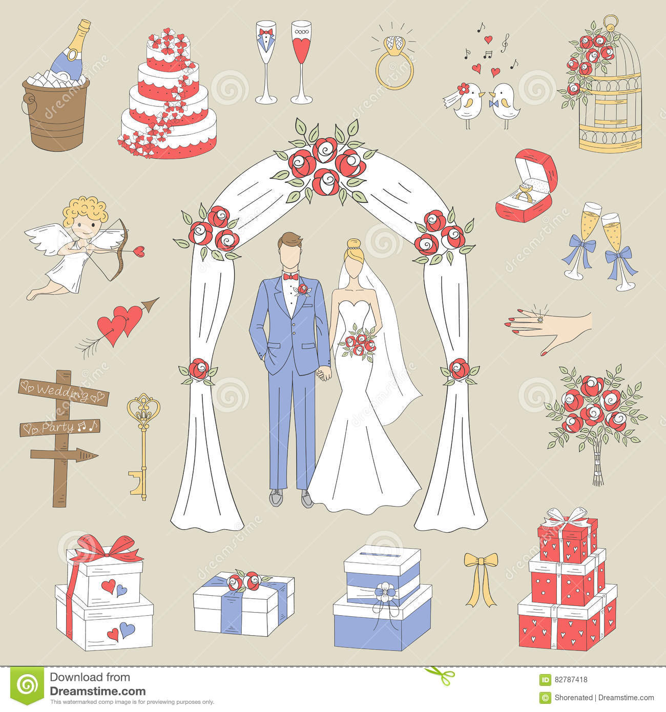 wedding cake box design vector wedding cake set icons vector illustration cartoondealer 22061