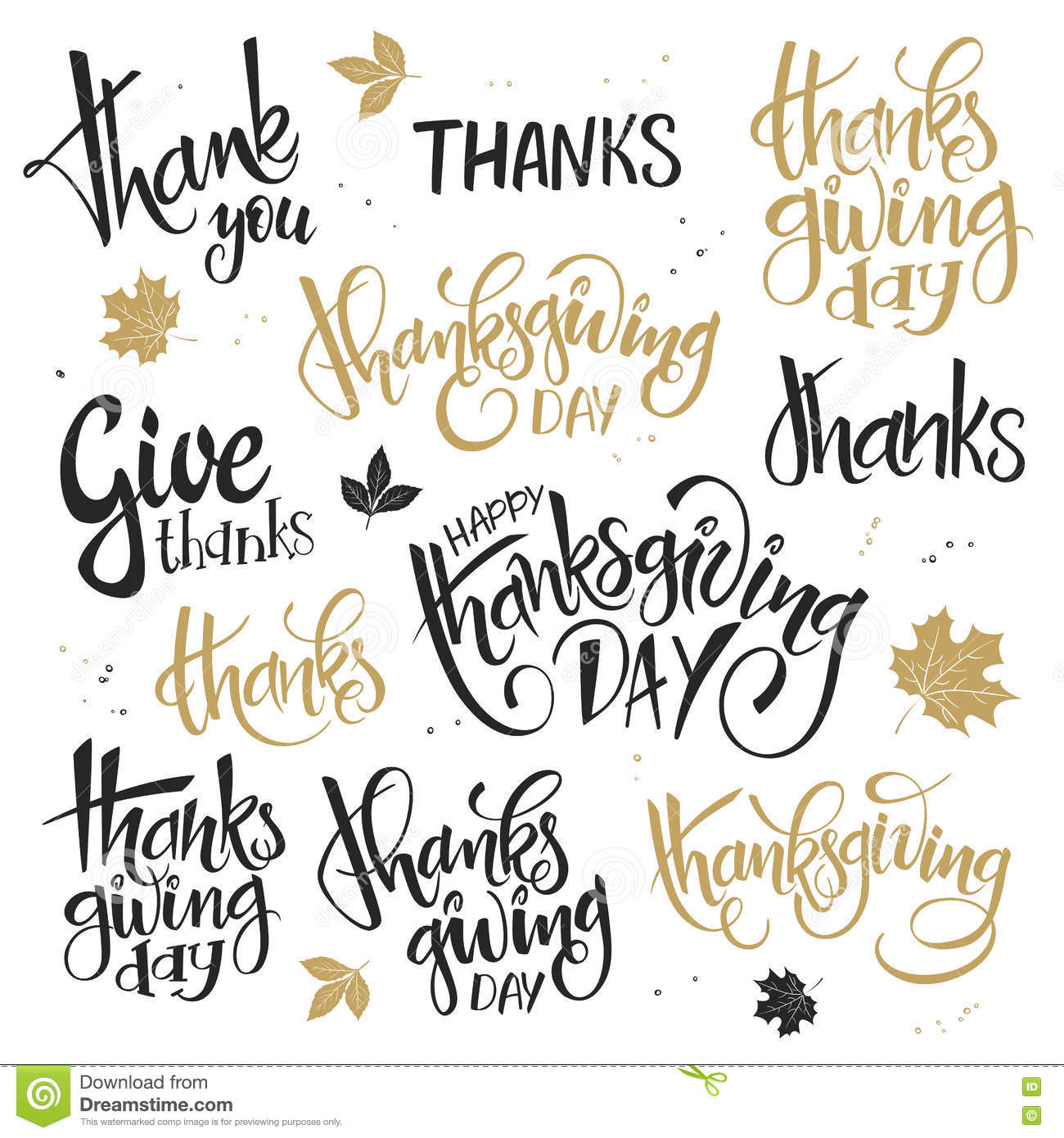 Vector set of hand lettering thanksgiving day quotes happy vector set of hand lettering thanksgiving day quotes happy thanksgiving give thanks and others m4hsunfo