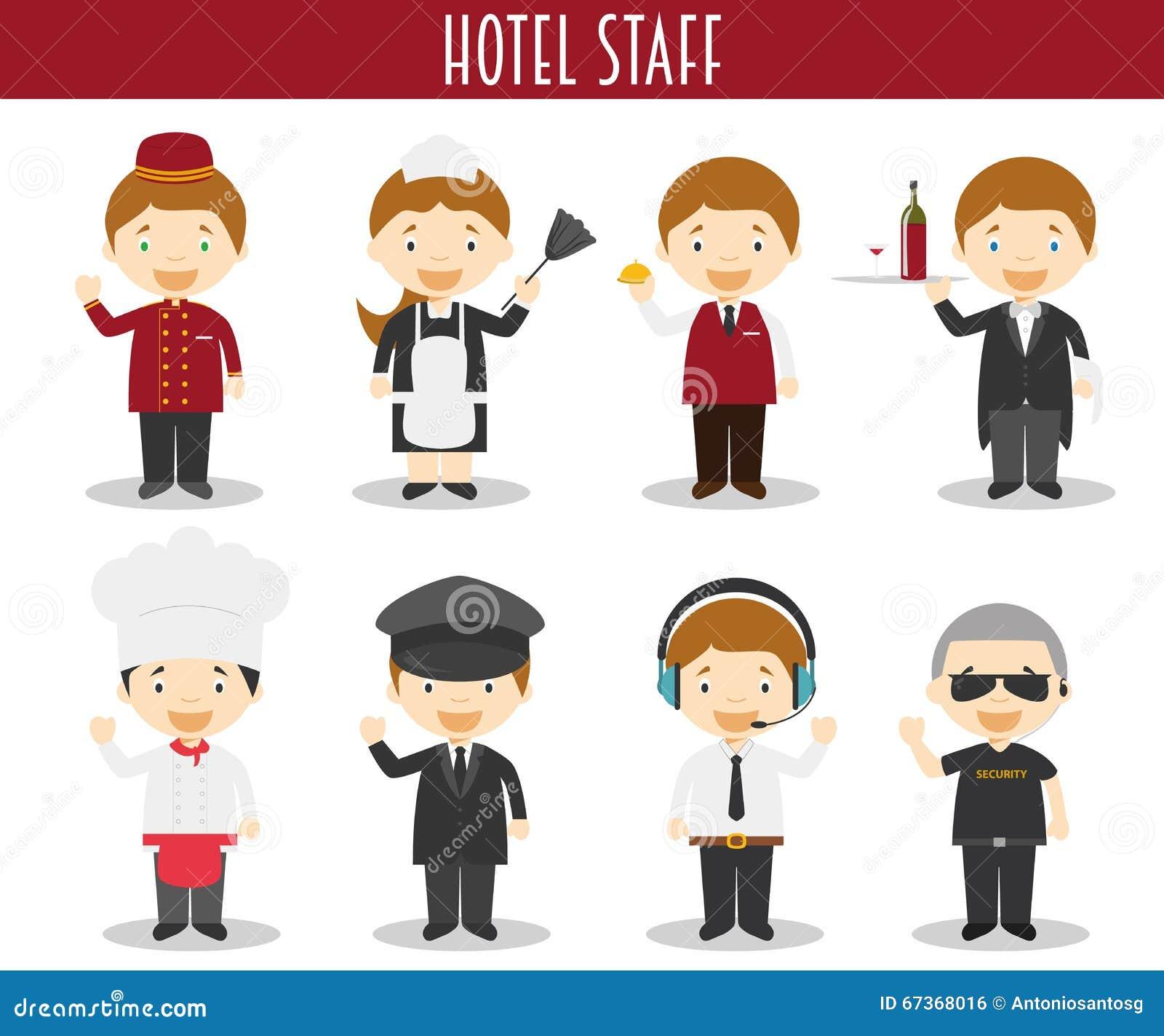 Hotel Staff Set Vector Illustration
