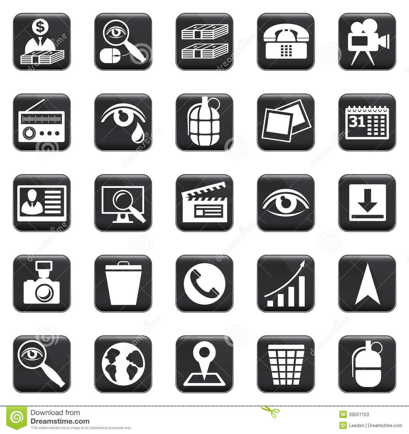 vector set of icons stock vector image of network