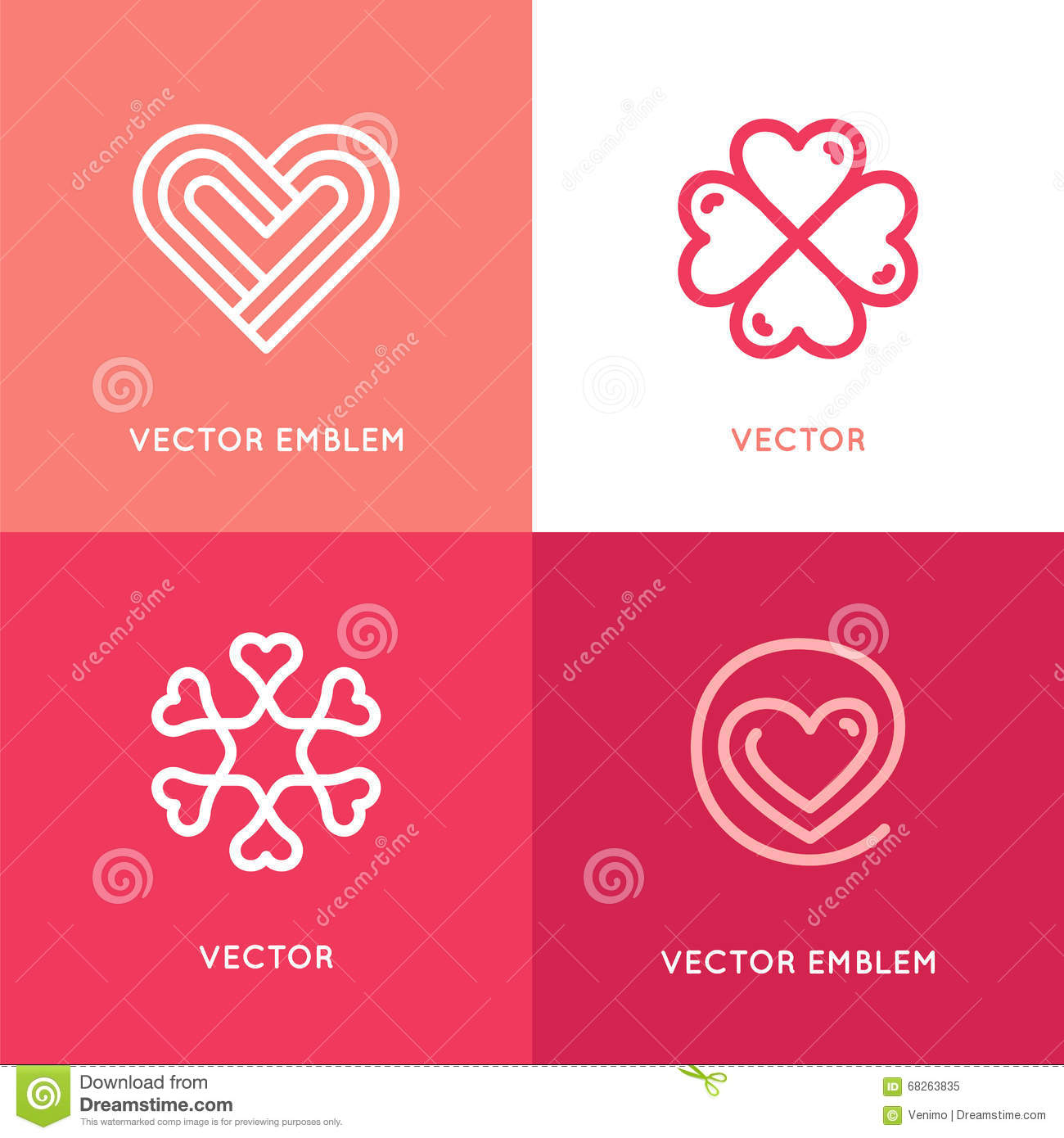 vector set of logo design elements and templates stock