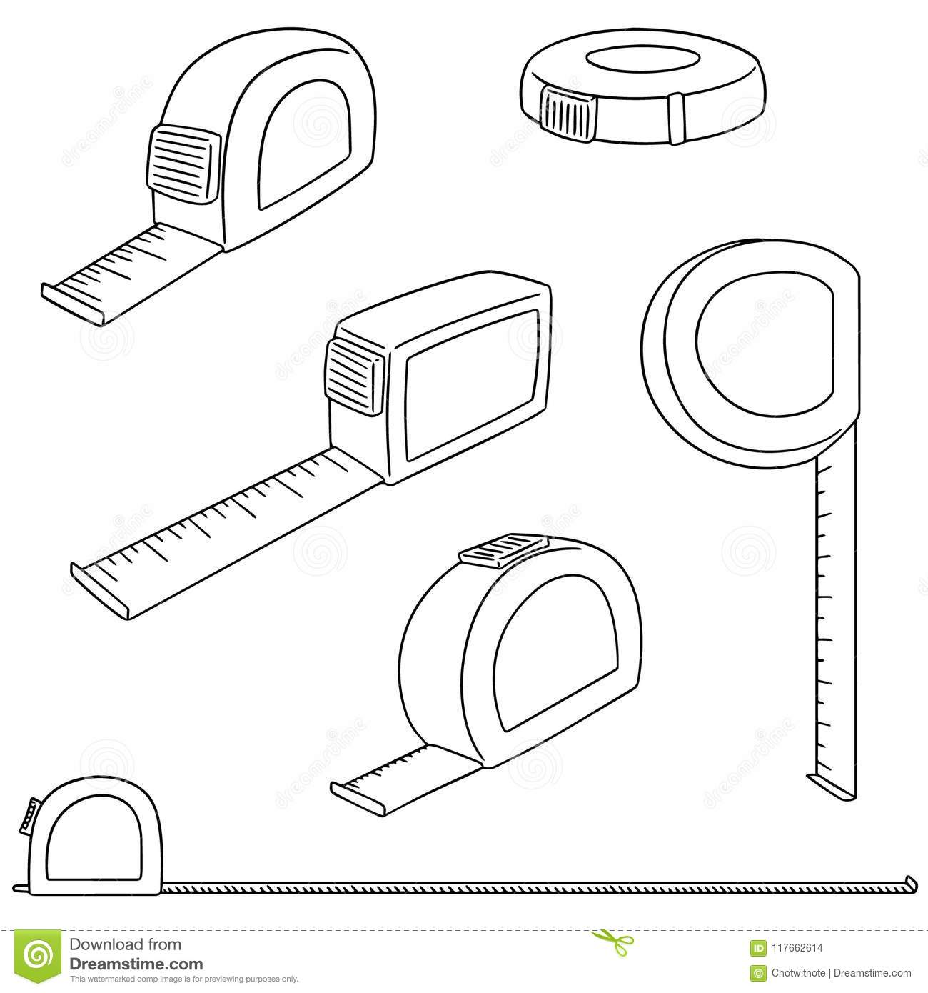Amazing Vector Set Of Measuring Tape Stock Vector Illustration Of Draw Wiring Digital Resources Dimetprontobusorg