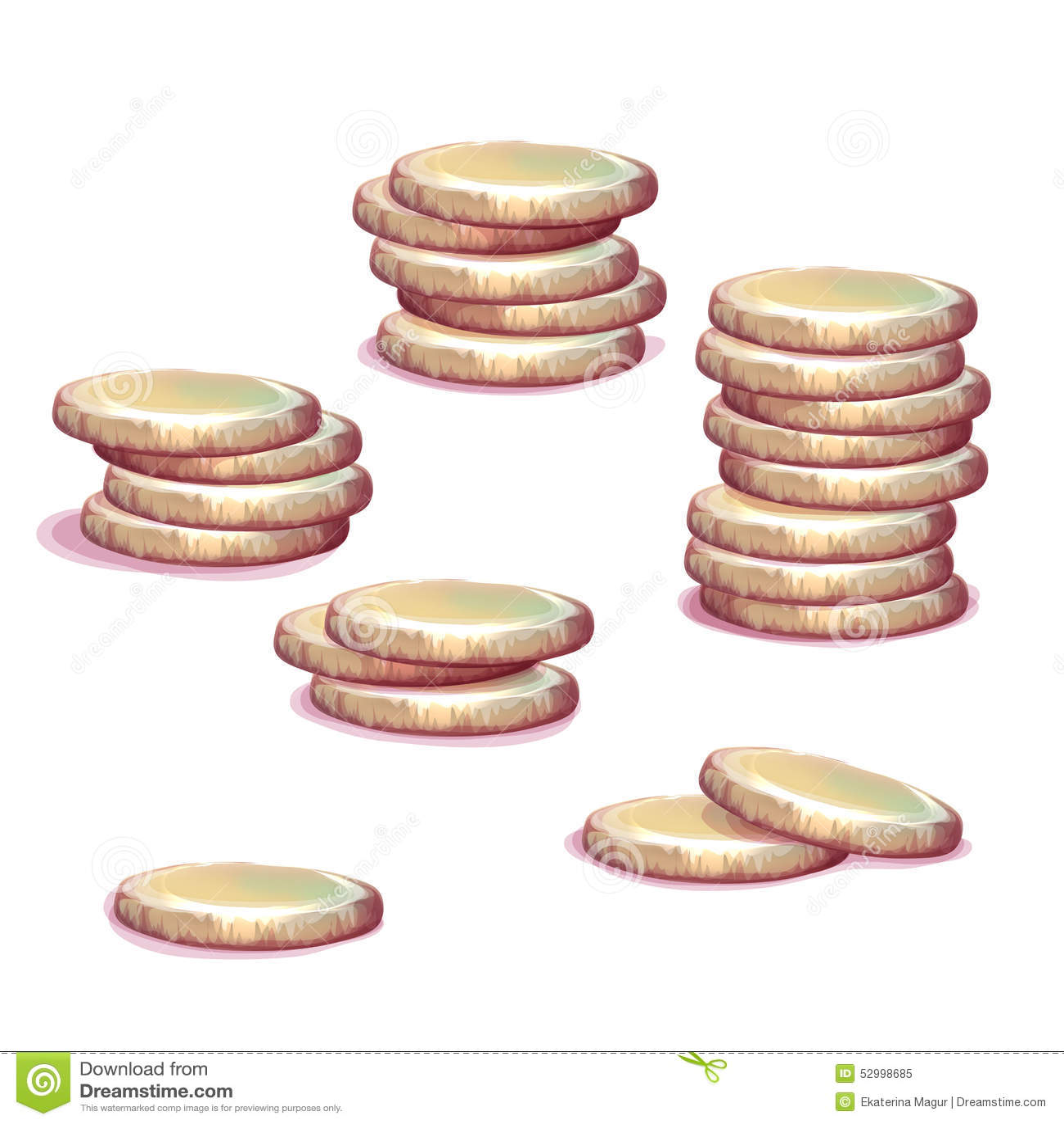 Vector set of money towers
