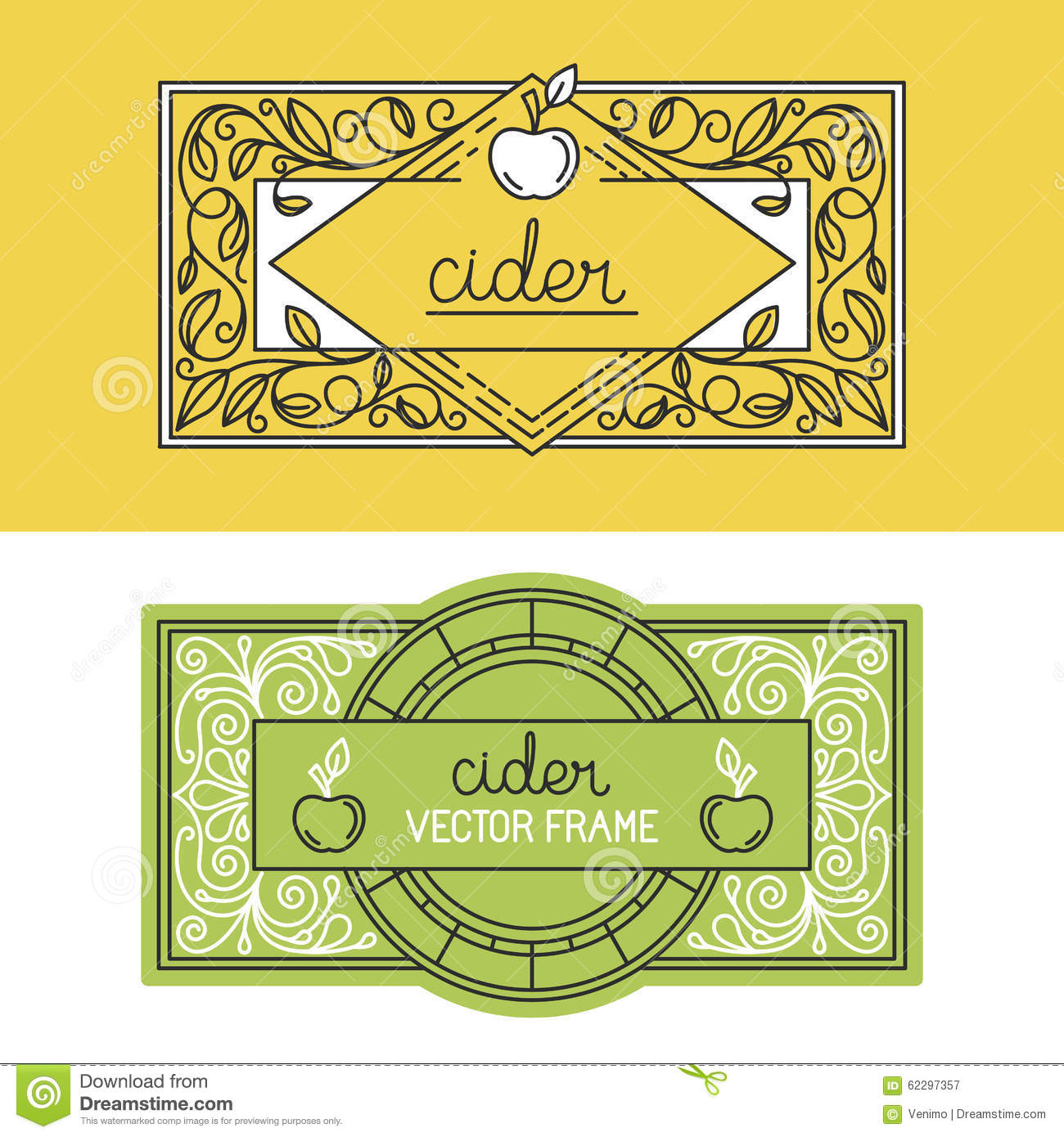 Vector Set Of Packaging Design Templates Stock Vector - Illustration ...