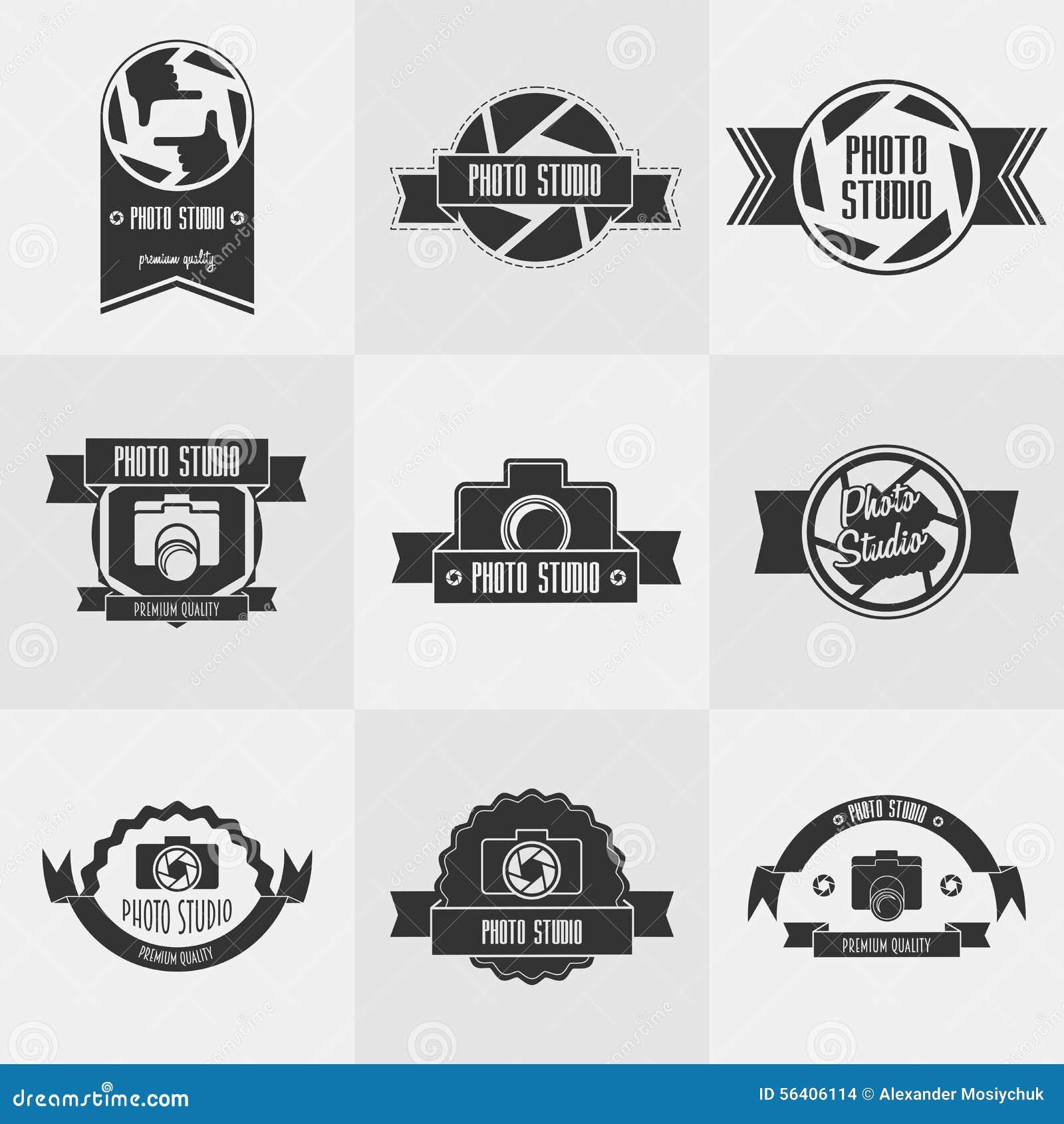 Vector Set Of Photo Studioy Logo Templates. Stock Vector