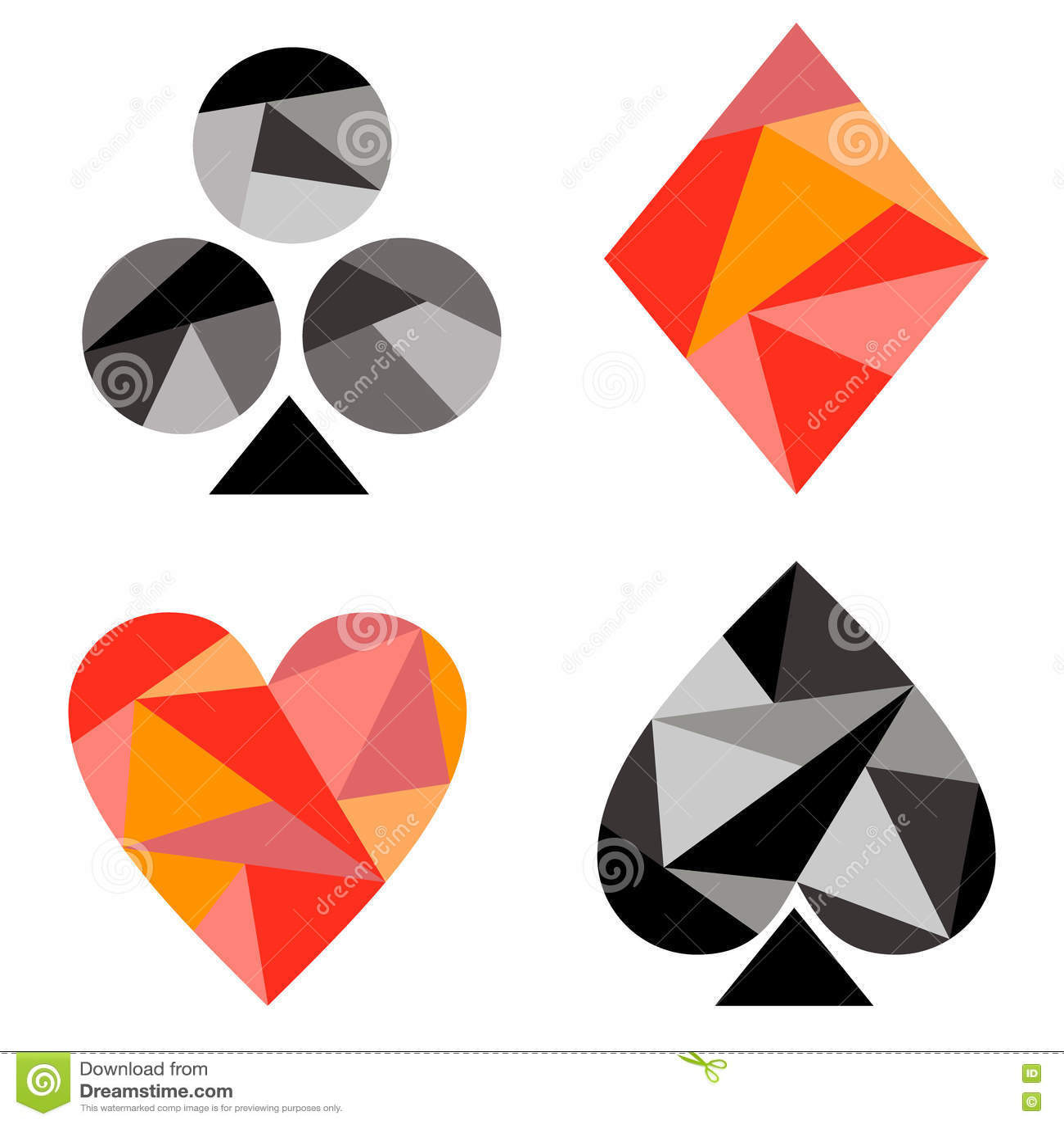 Vector set of playing card symbols black and red icons isolated vector set of playing card symbols black and red icons isolated on the backgrounds biocorpaavc