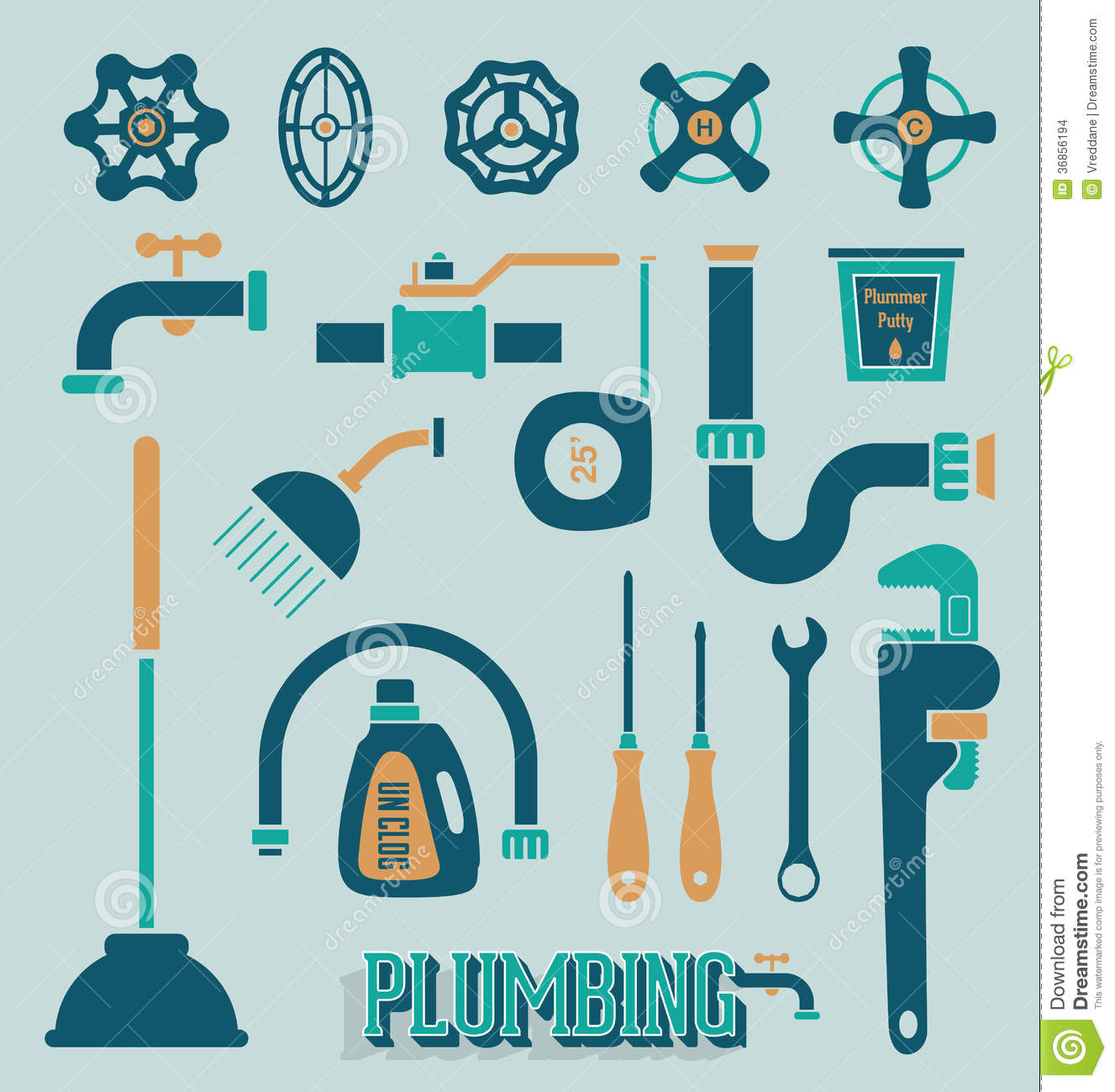 pipe wrench clipart