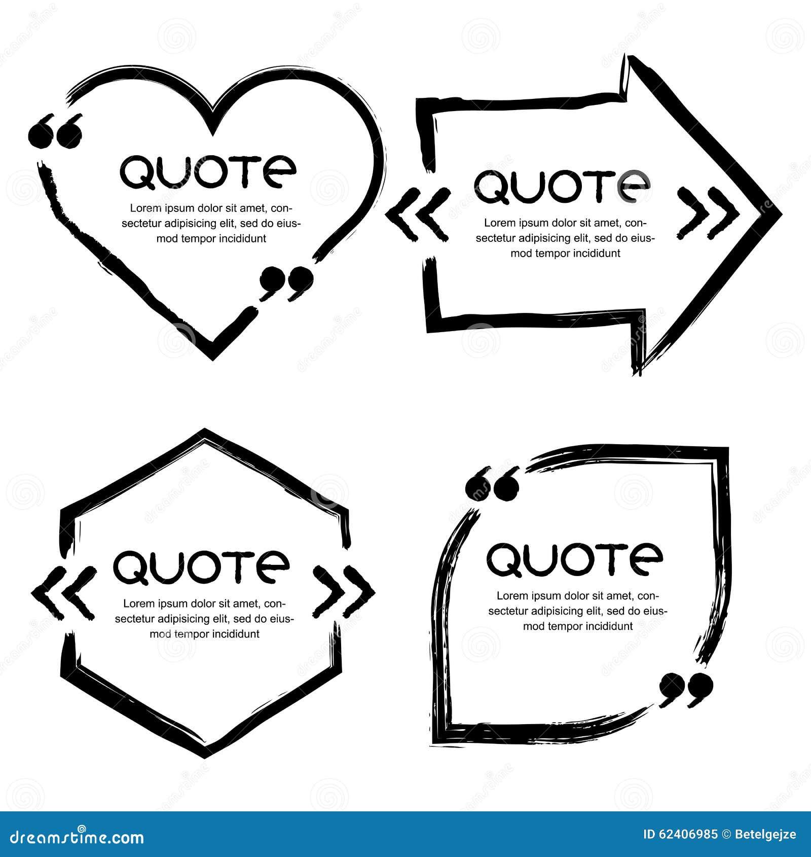 quote vector border set cartoon vector