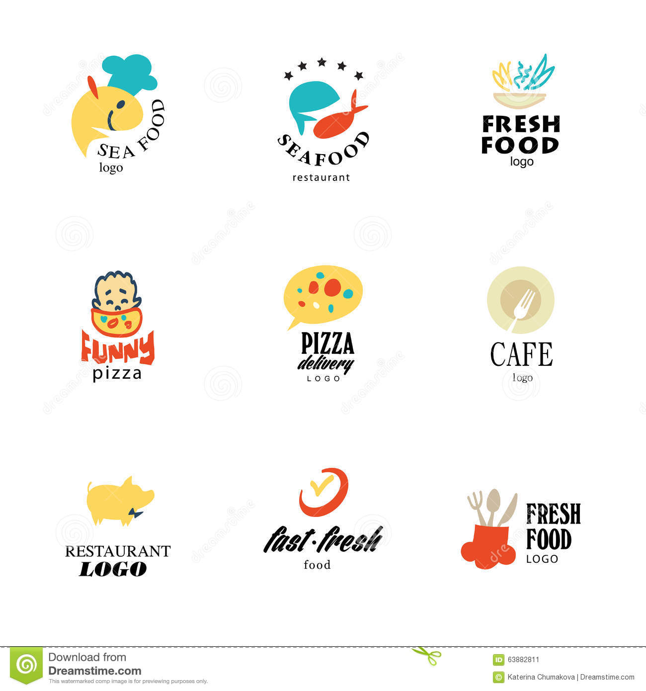 Vector set of restaurant logo design templates stock vector vector set of restaurant logo design tempaltes stock image buycottarizona Image collections
