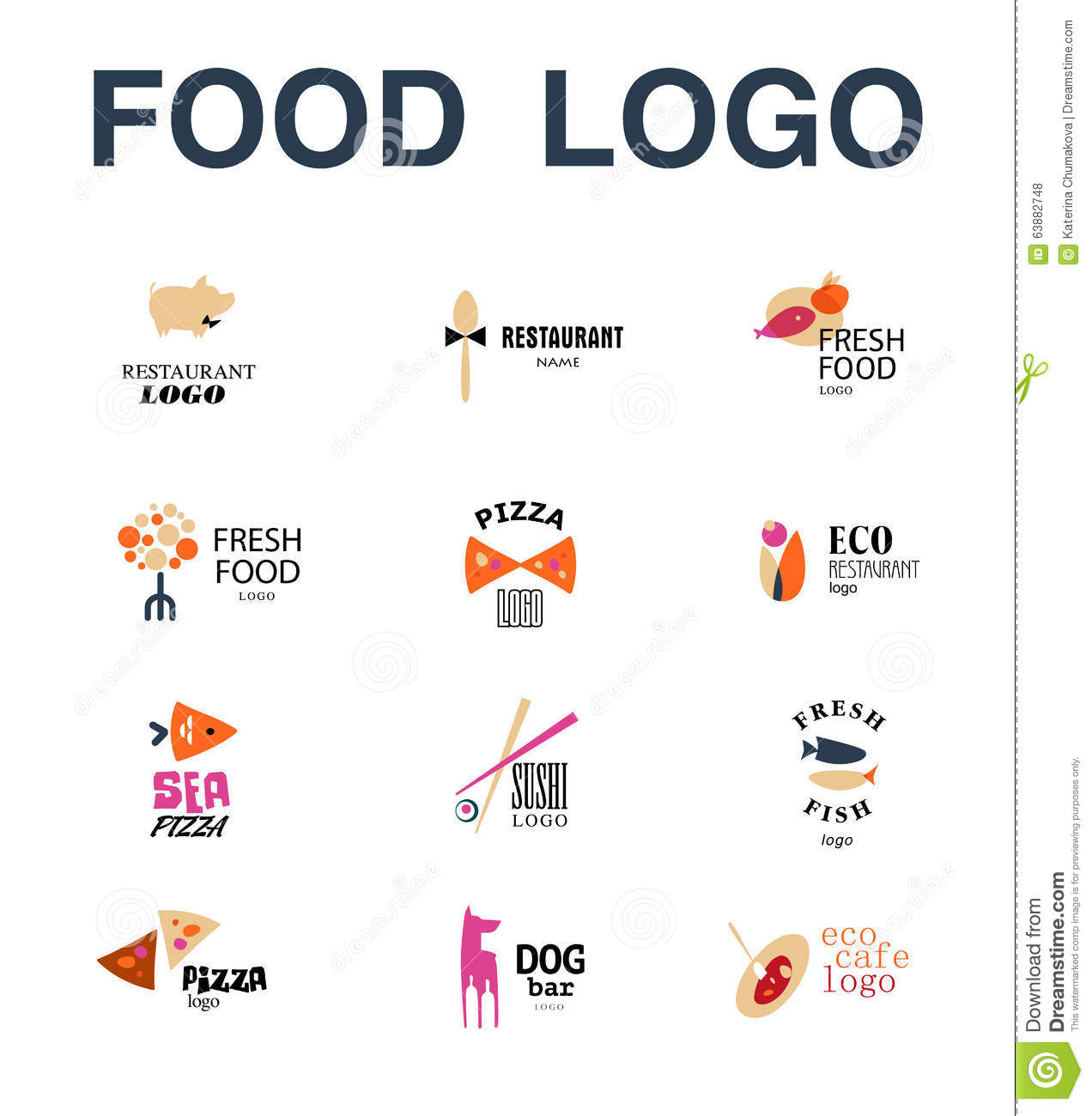 Design Templates Logo Pizza Logo Vector Set Of Restaurant