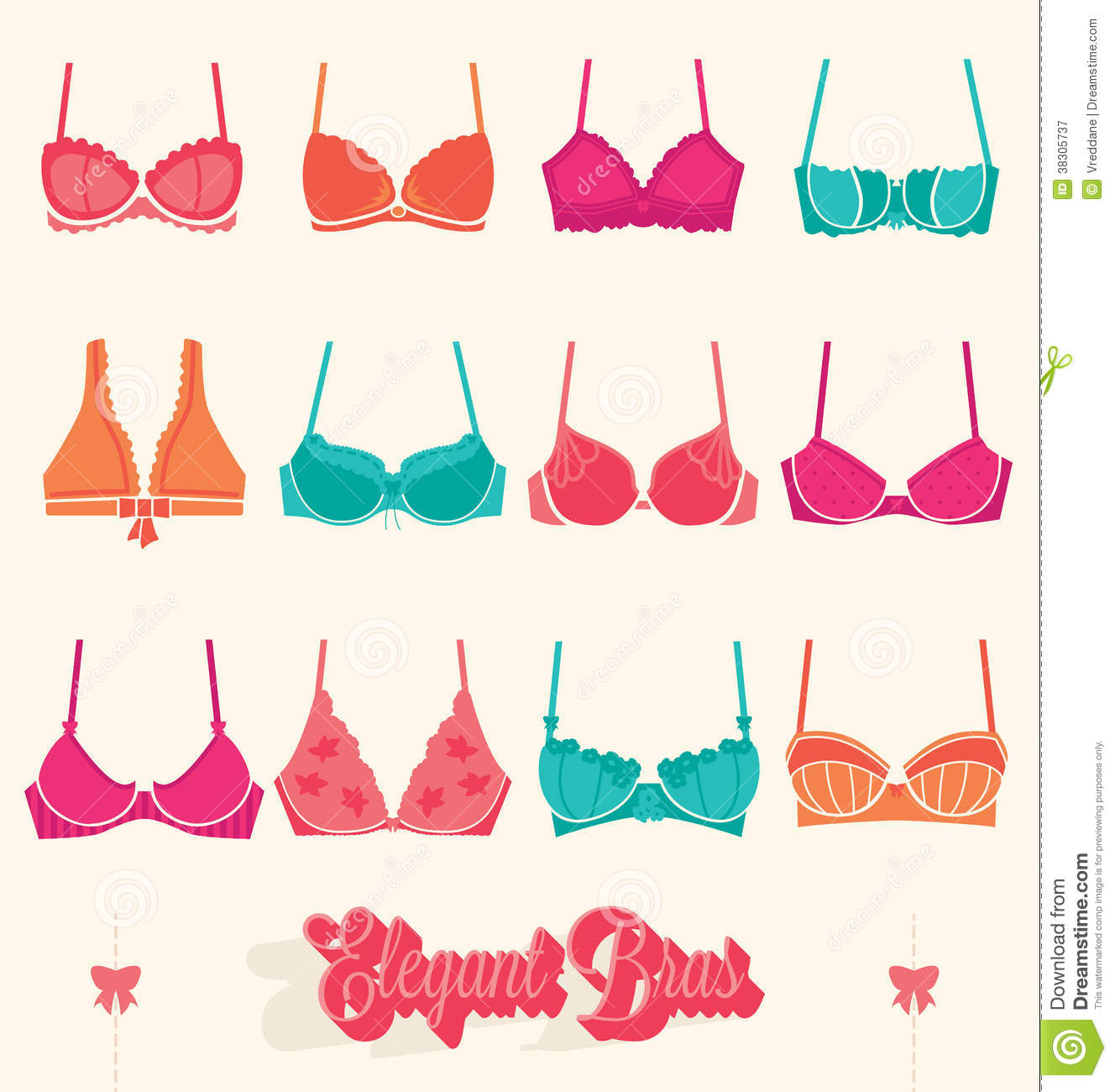 Bra Stock Illustrations – 3,697 Bra Stock Illustrations, Vectors ...