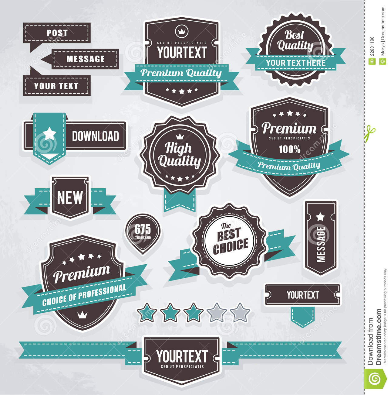 Vector Set Of Retro Labels Royalty Free Stock Image ...