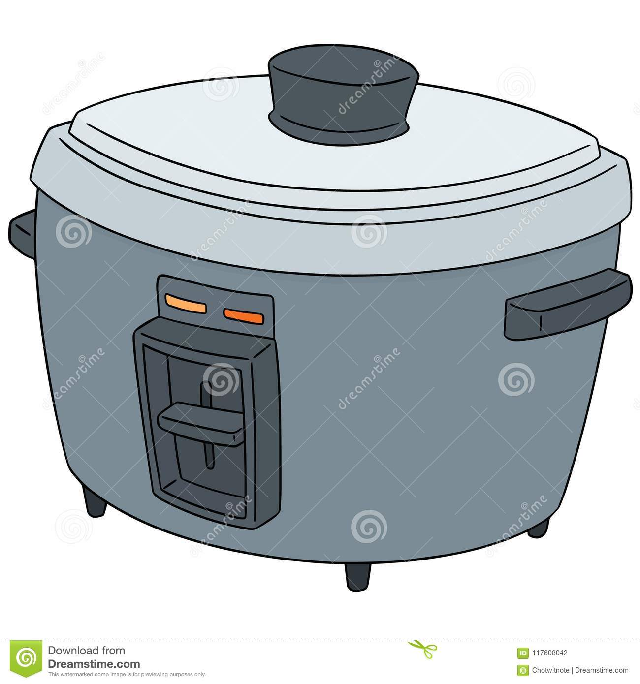 Cartoon Electric Cooker ~ Cooker cartoons illustrations vector stock images