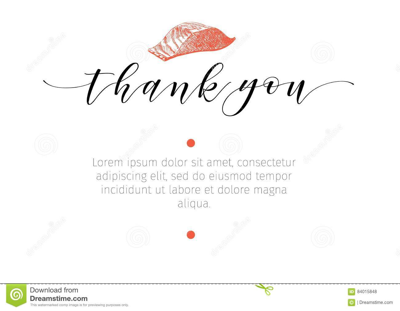 Vector Set For Seafood Restaurant Branding. Banner, Thank You ...