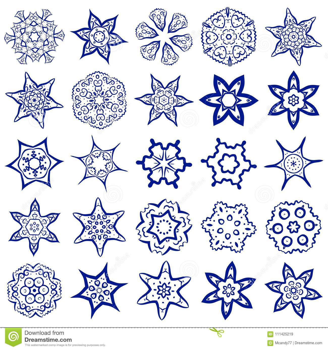 Vector Set Of Simple Sacred Geometry Symbols  Stock Vector
