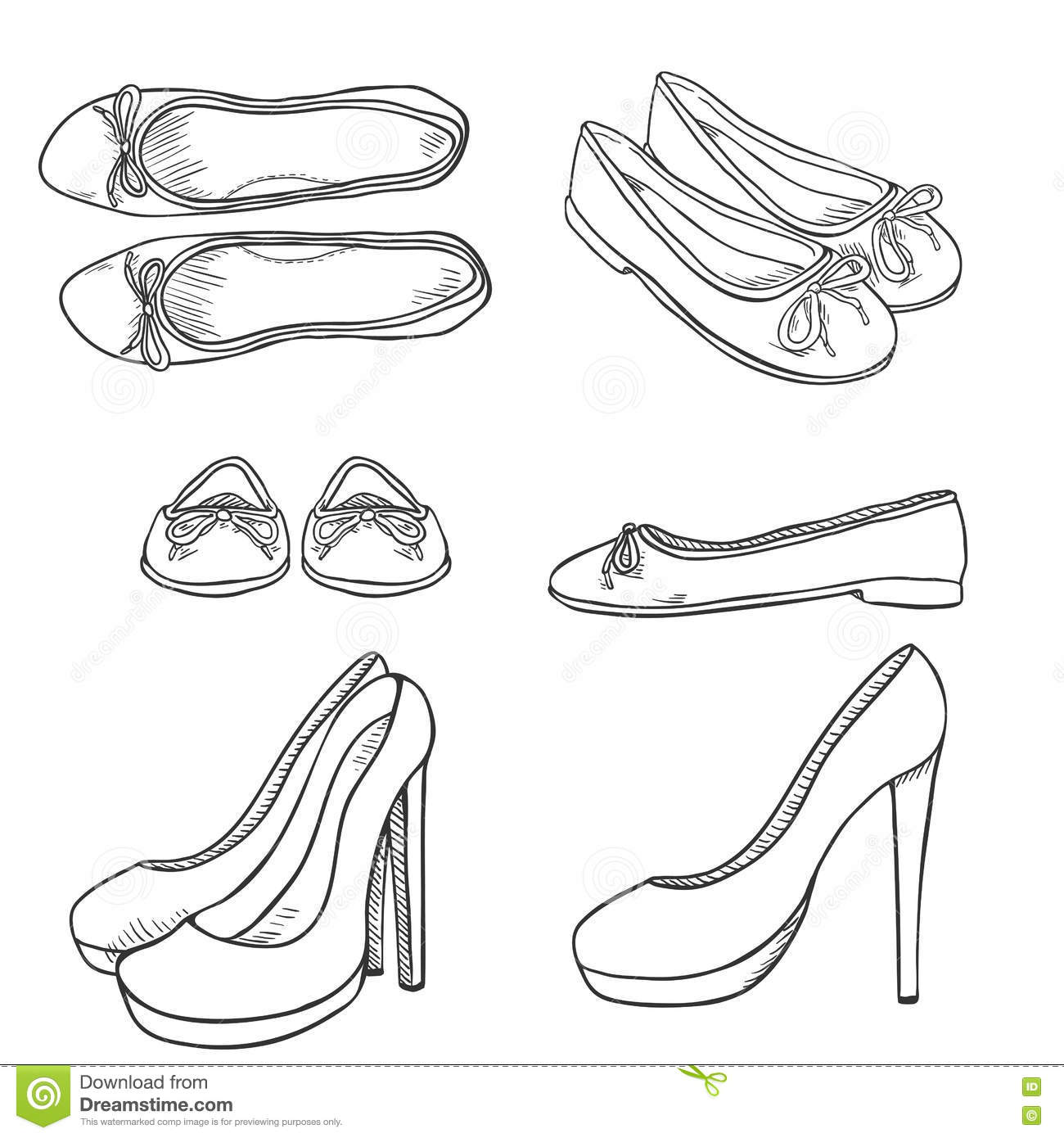 Fantastic High Heel Doodle Stock Illustration 72185116 - Shutterstock