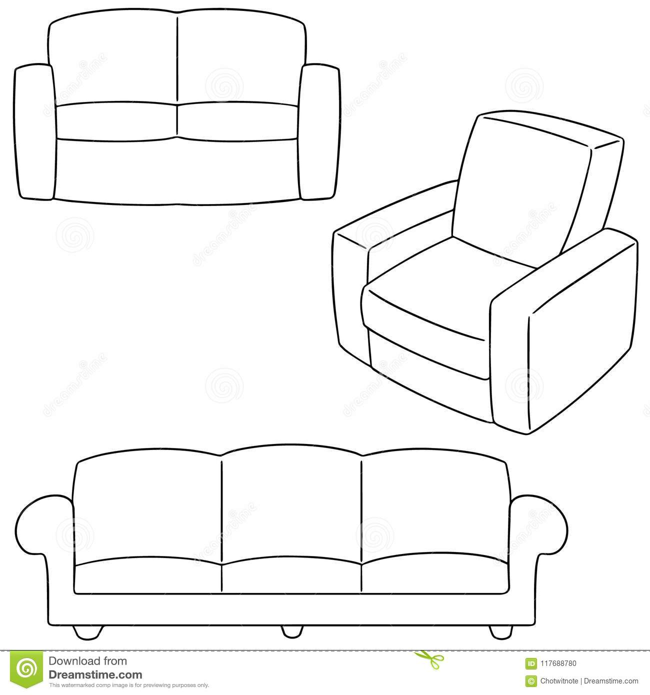 Peachy Vector Set Of Sofa Stock Vector Illustration Of Leather Pdpeps Interior Chair Design Pdpepsorg