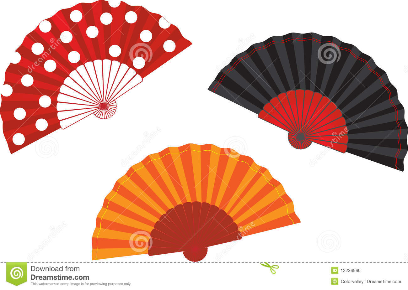 vector set spanish fan illustration stock photo image cycling clip art free cycling clipart