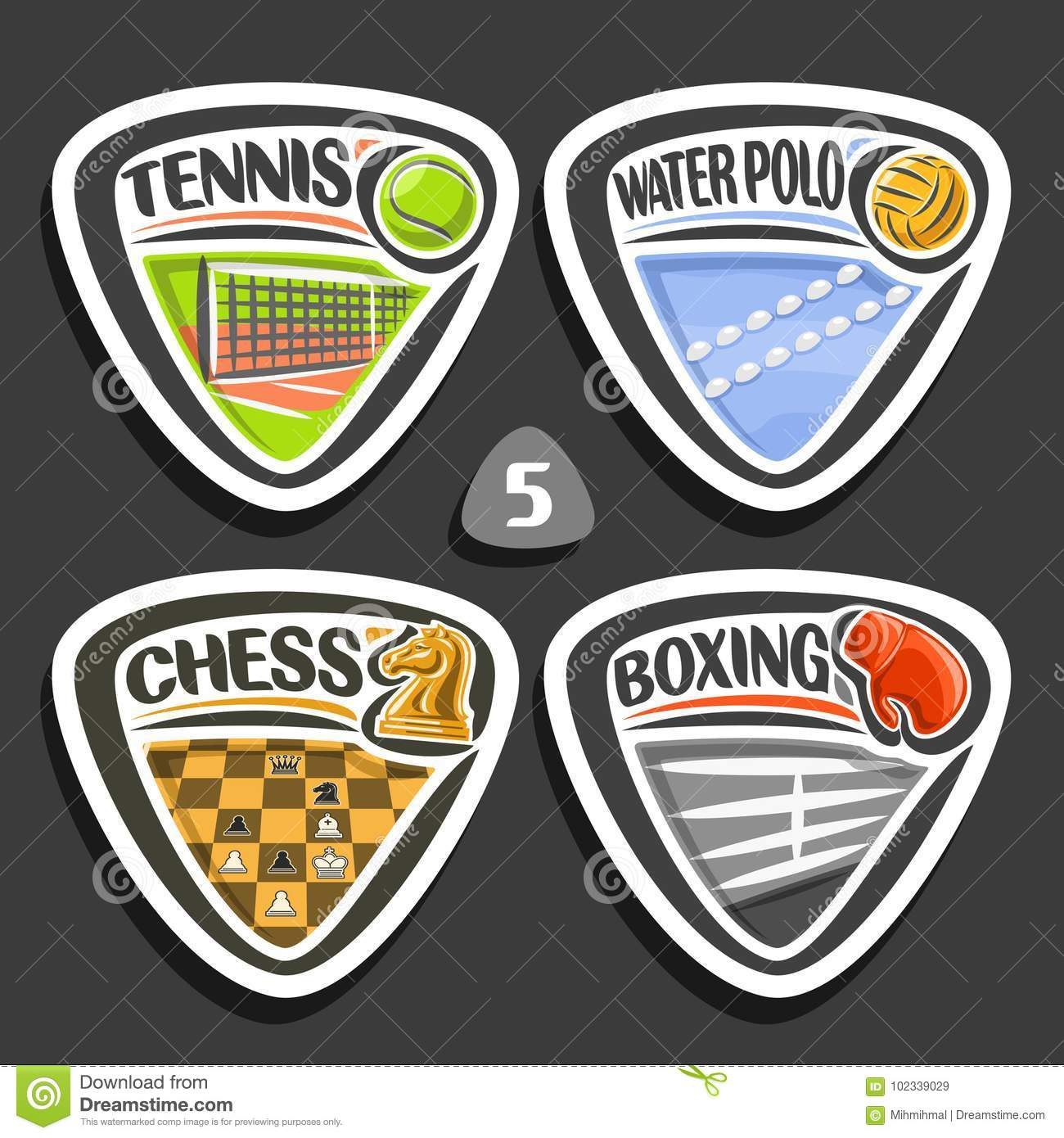 Vector Set Of Sport Logos Stock Vector Illustration Of Competition