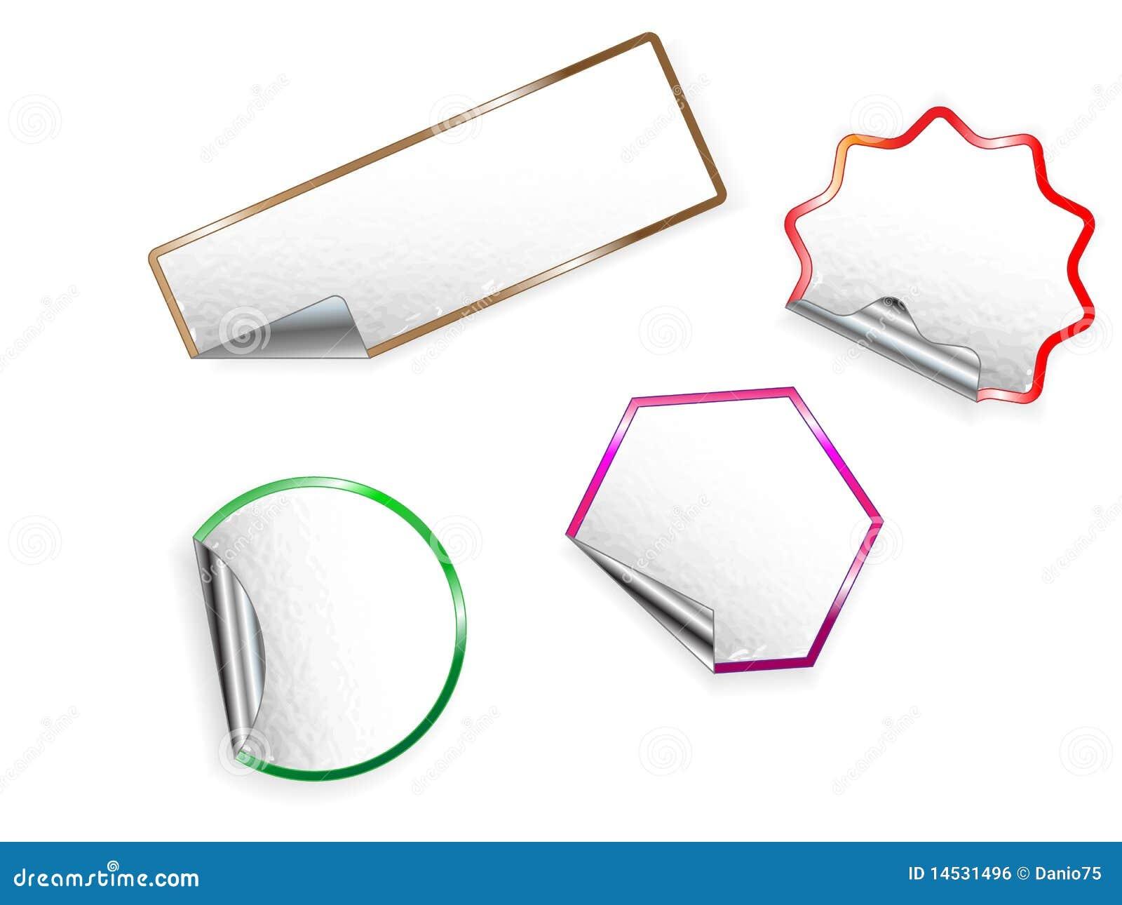 Vector Set Of Sticky Labels  Stock Illustration