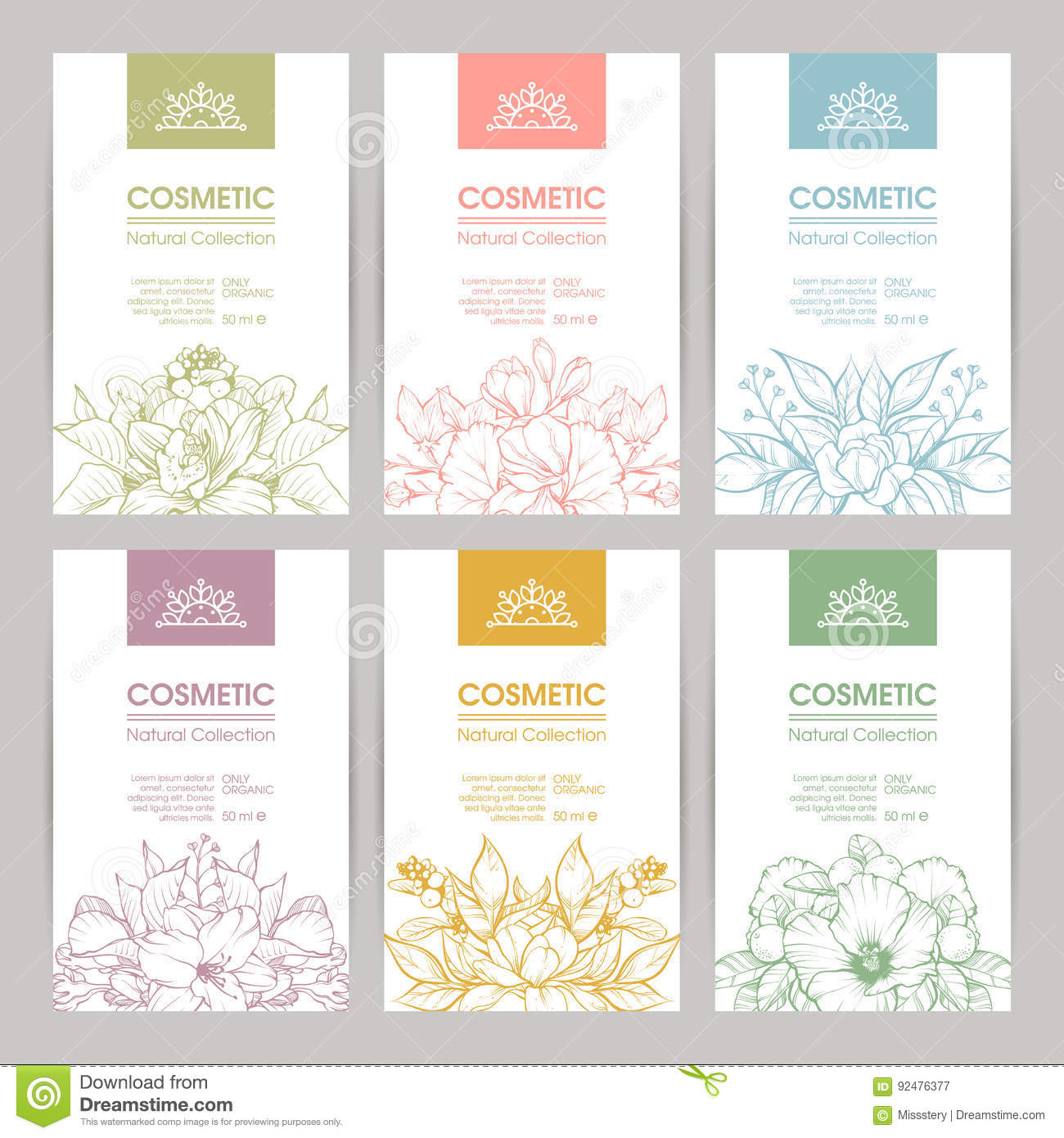 Vector Set Of Templates Packaging Cosmetic Stock Vector ...