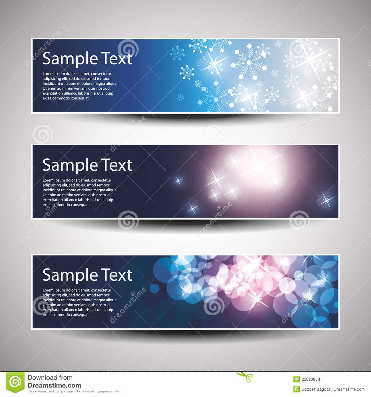 more similar stock images of vector set of three banner designs