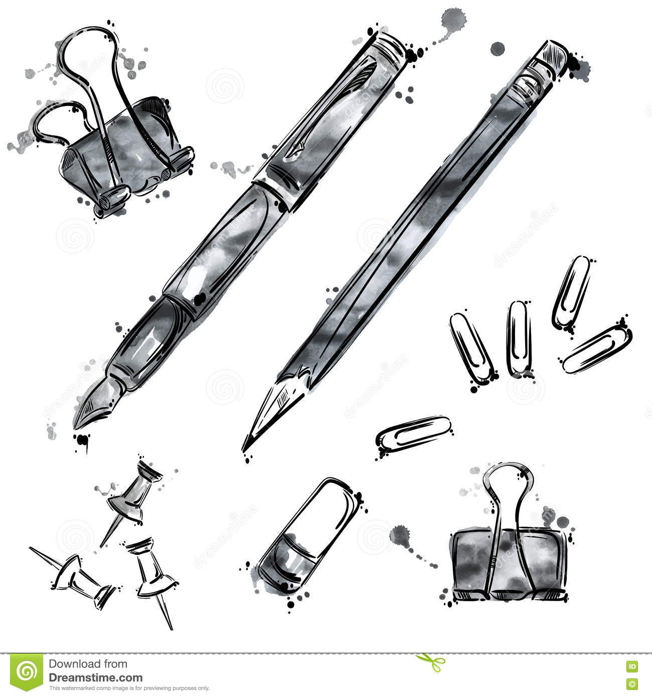 Vector set of tools. Isolate on white background.