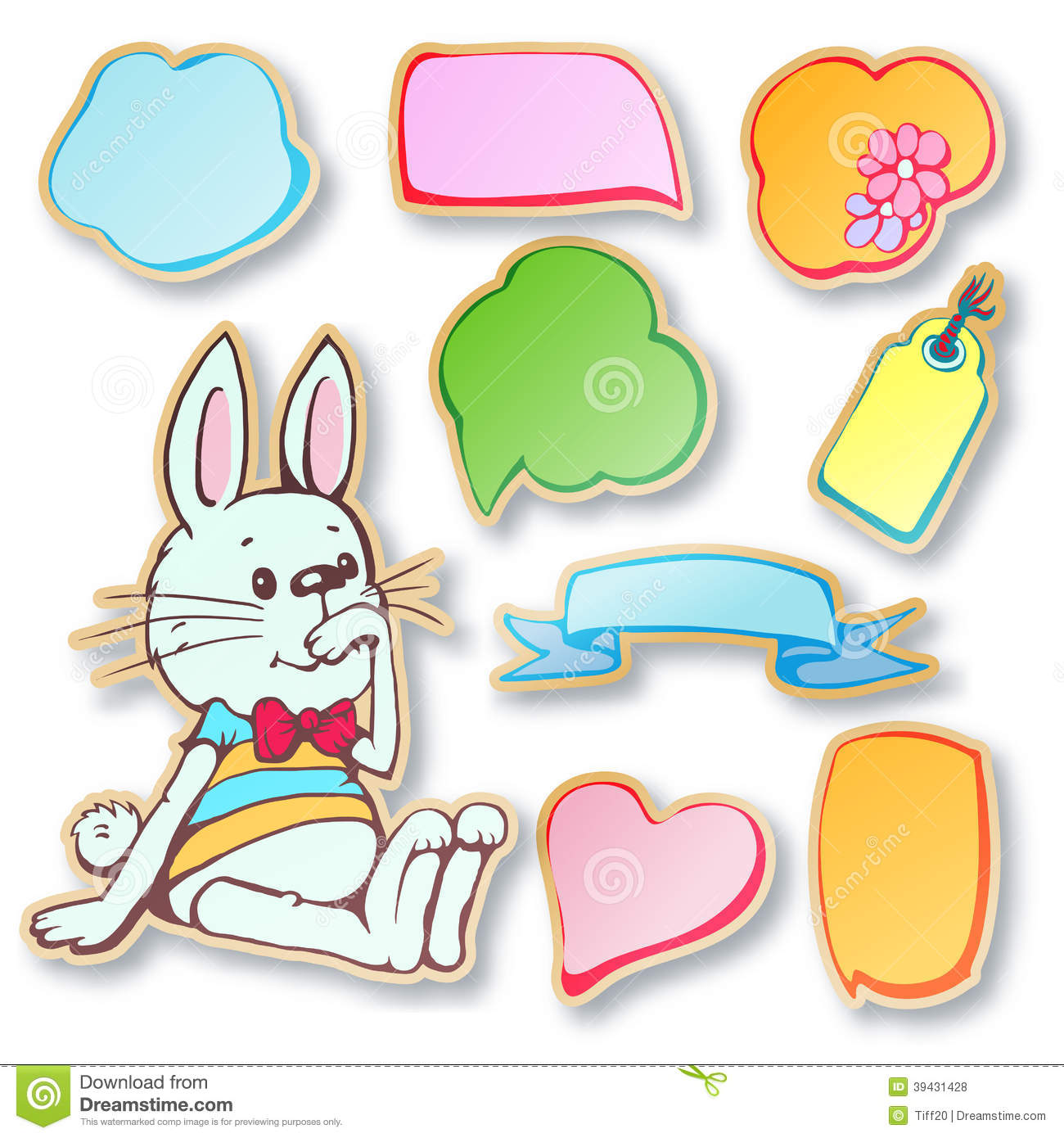 Text Bubble Toys For Tots : Vector set stock image