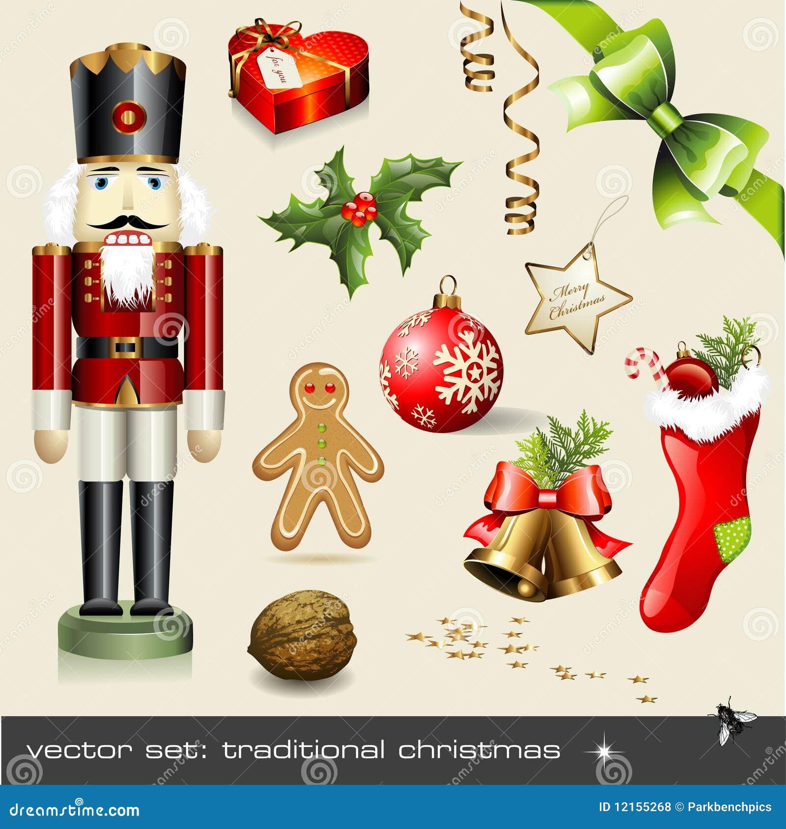Vector set: traditional christmas