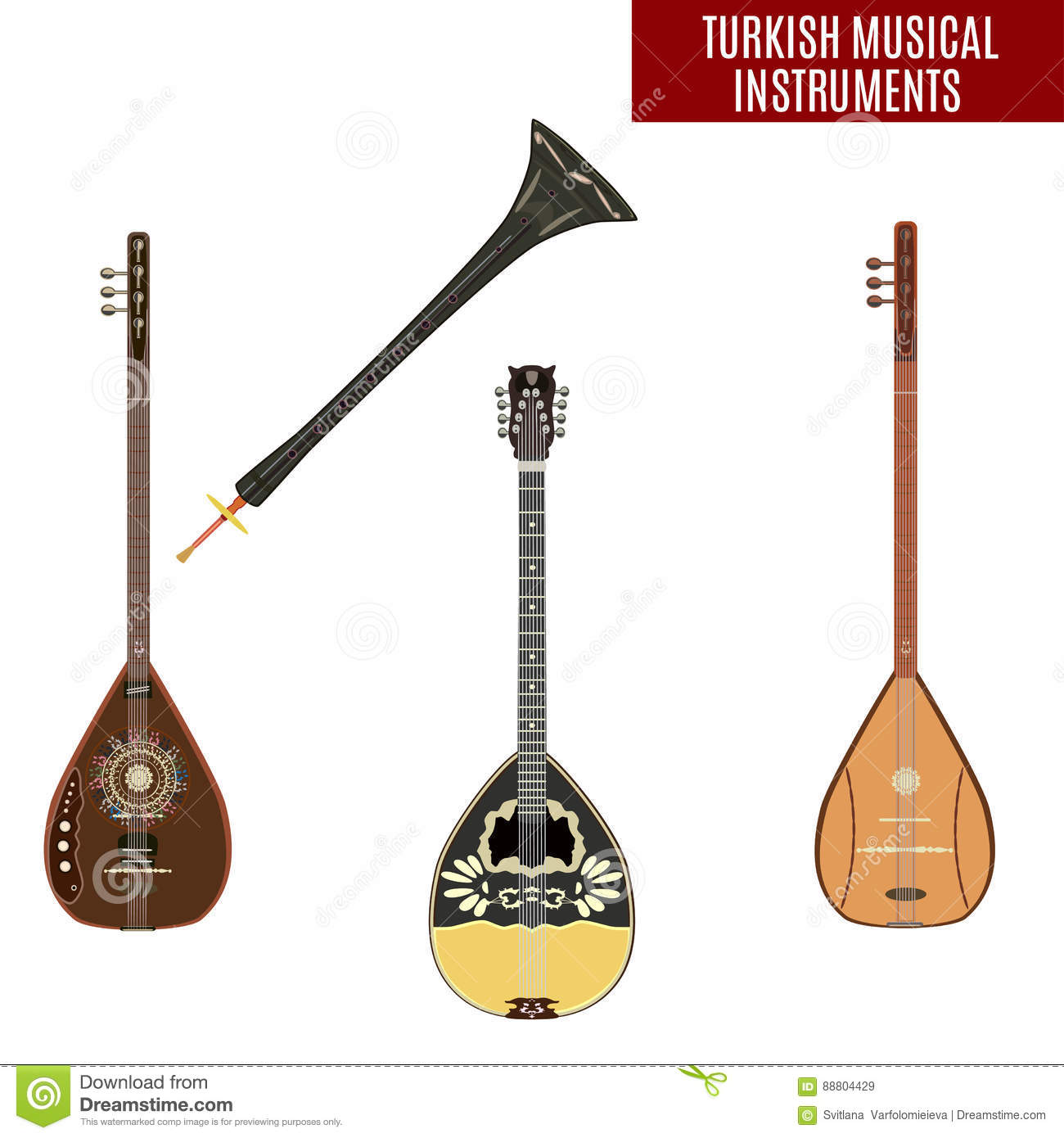 What Are Electrical Instruments : Bouzouki cartoons illustrations vector stock images