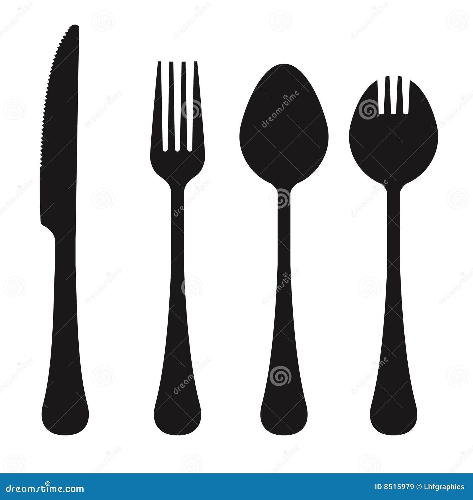 Vector Set Of Utensils Stock Vector Illustration Of Dine