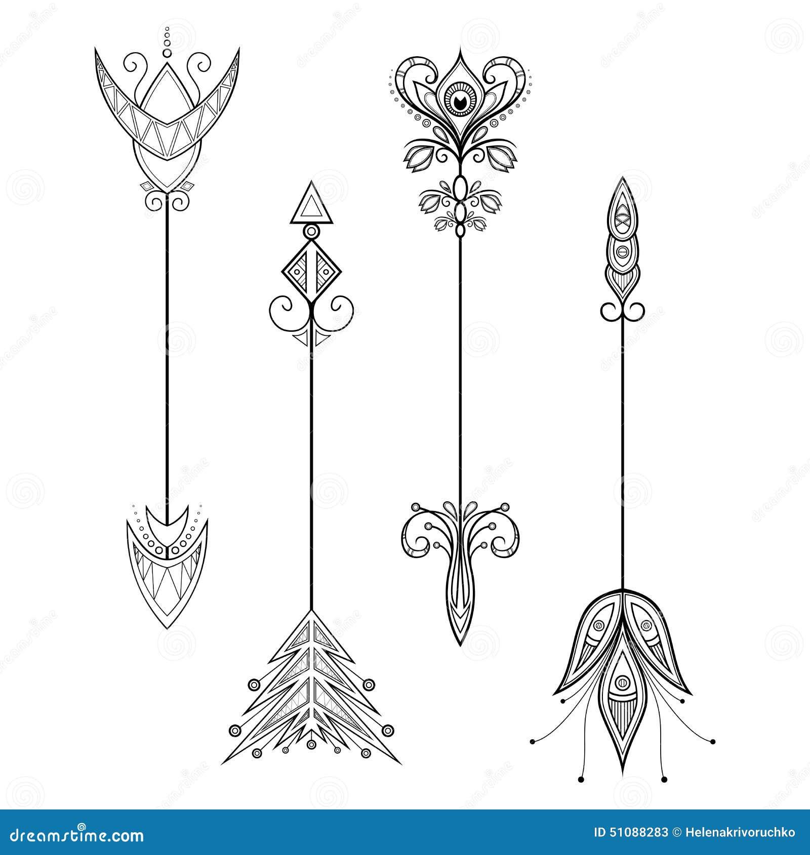 Vector Set Of Vintage Arrows