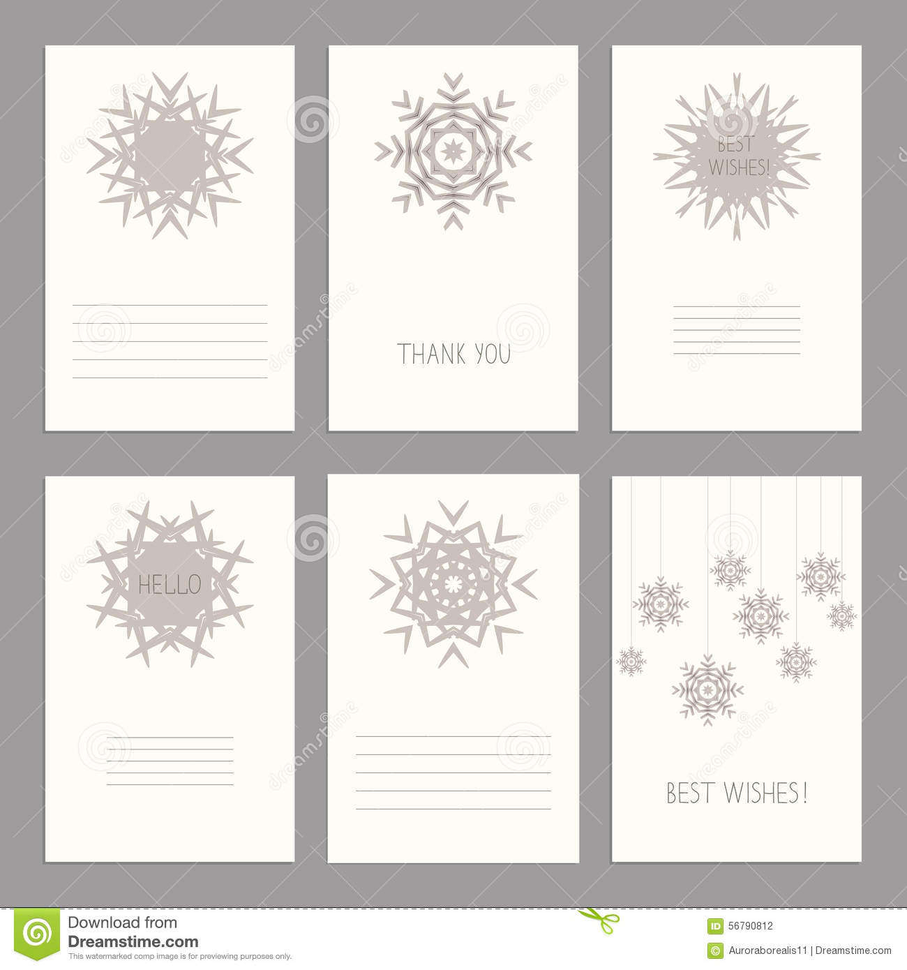 Vector Set of vintage cards templates editable. Template for scr