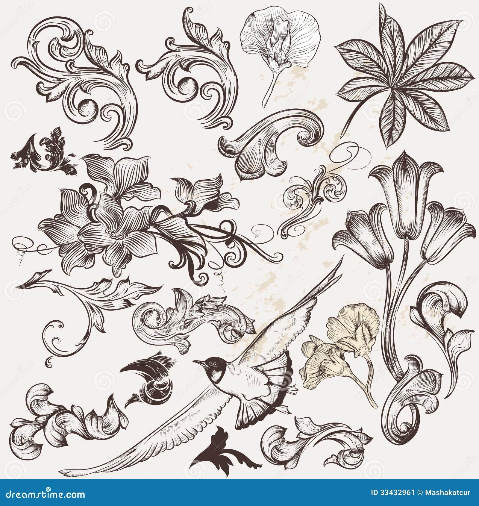 vector hand drawn calligraphic-#12