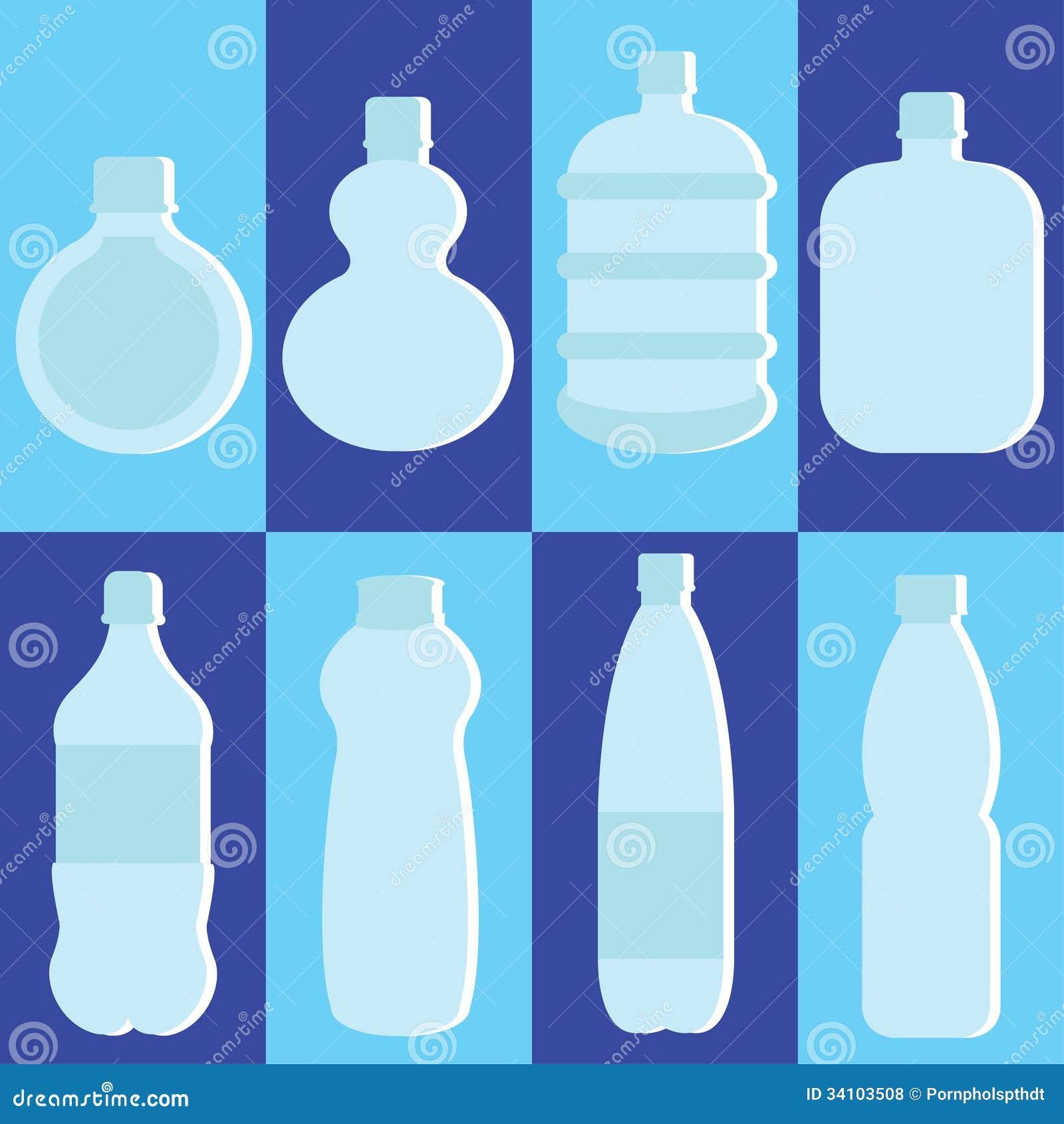 Water Bottle Vector: Vector Set Of Water Bottle Stock Vector. Illustration Of