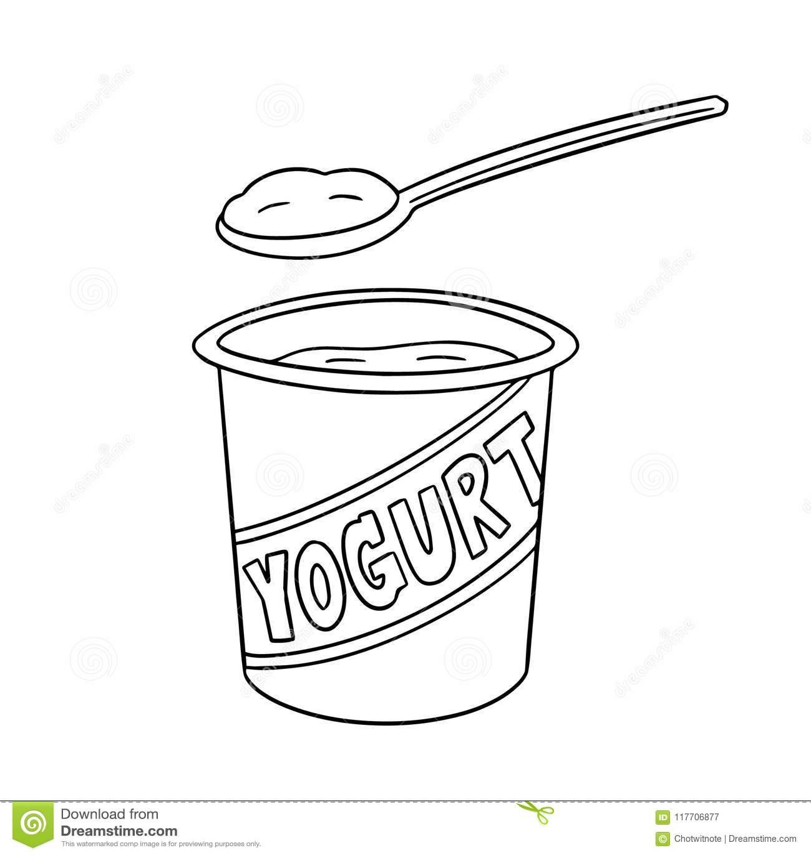Vector set of yogurt stock vector. Illustration of draw ...