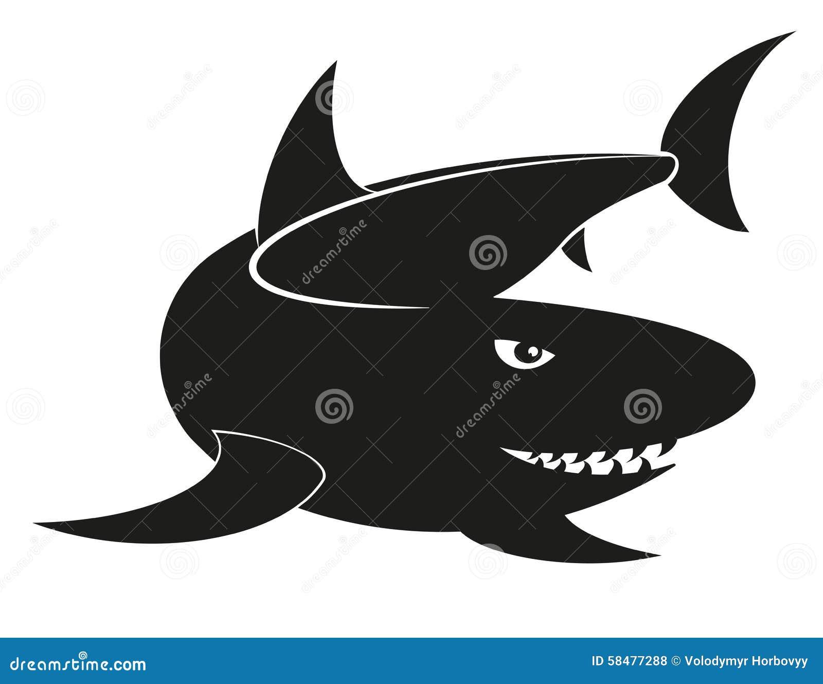 Vector Shark Stock Vector - Image: 58477288