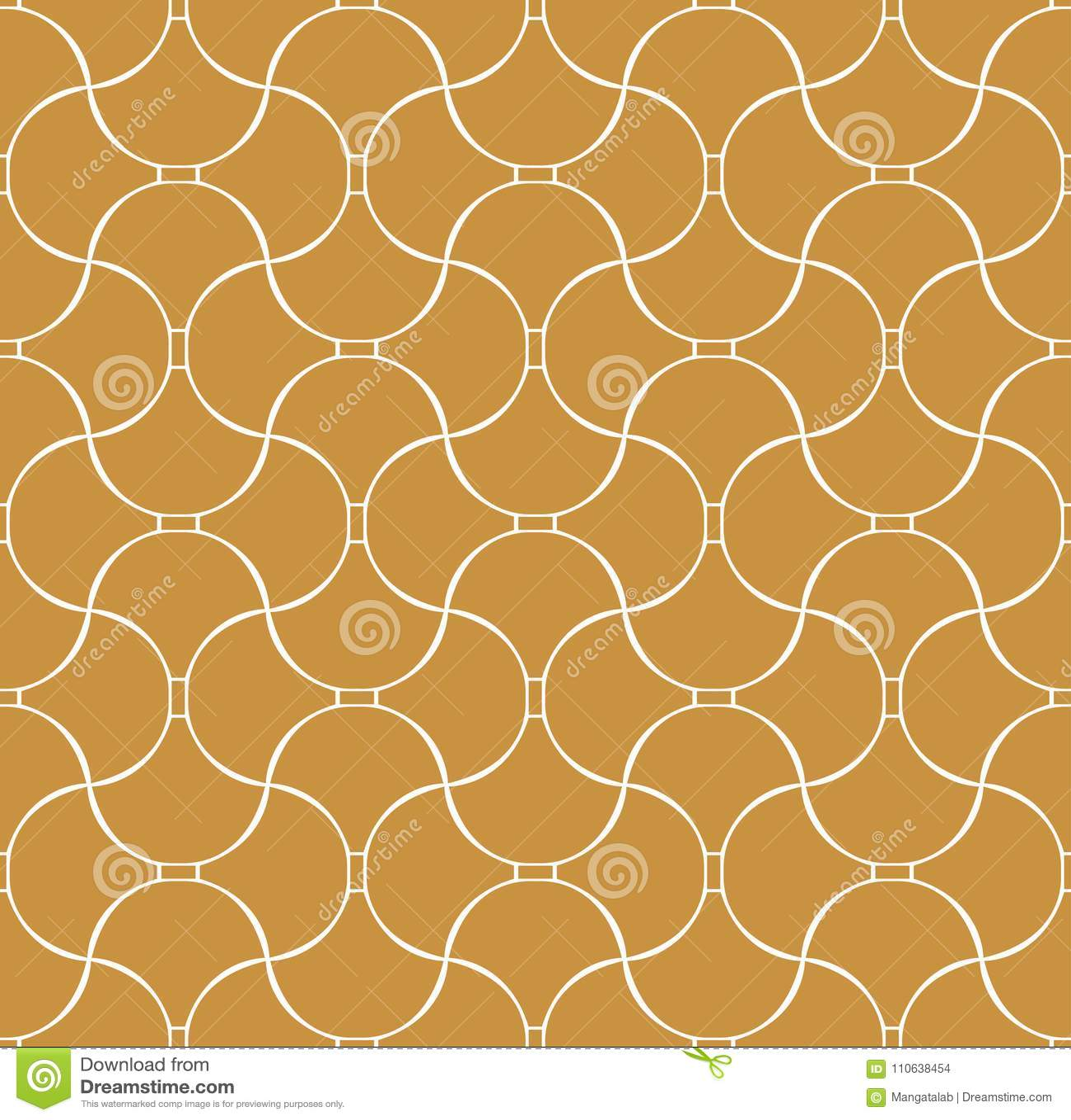 Vector Shell Art Deco Seamless Pattern Fondo abstracto geométrico