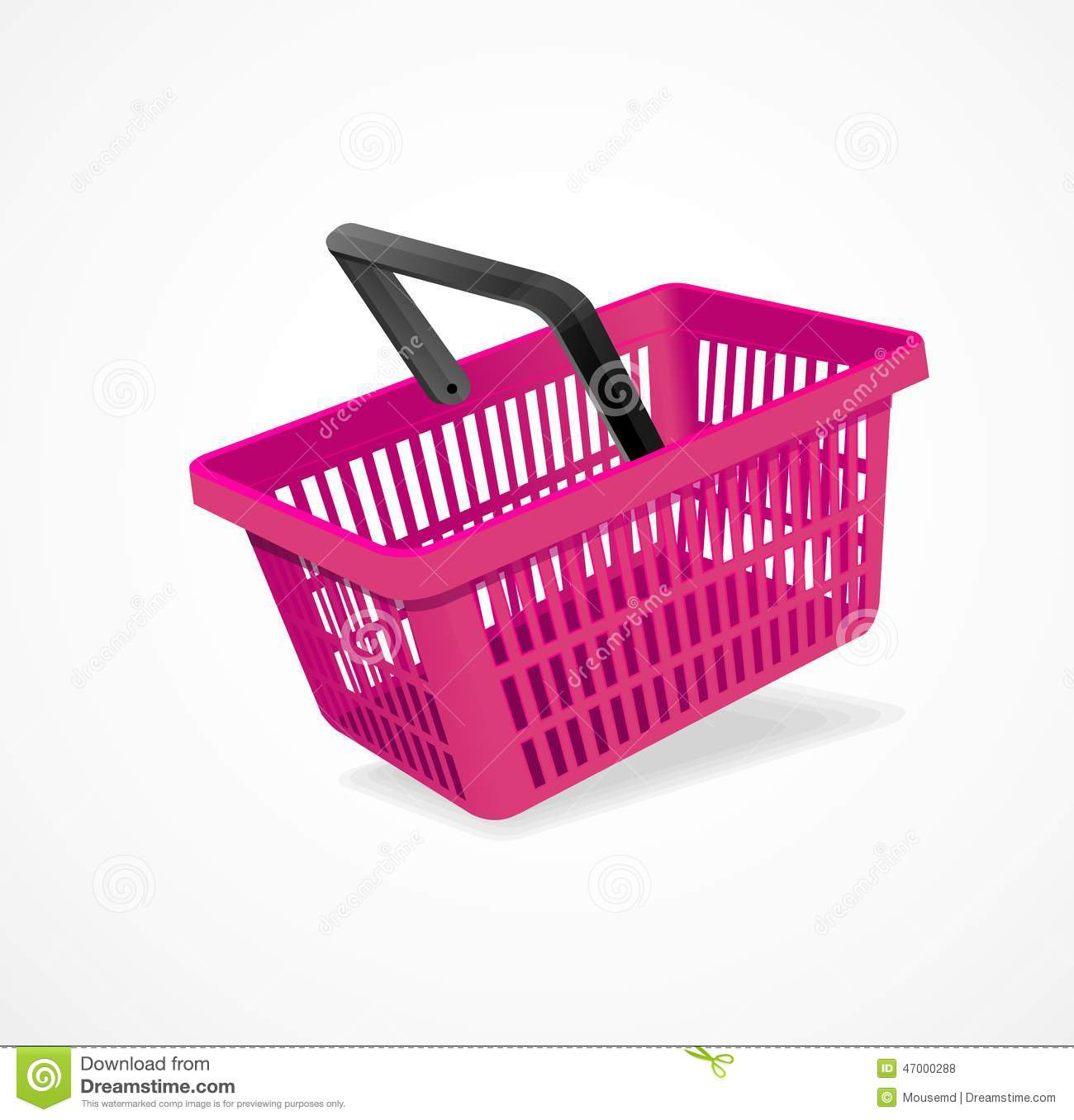 Vector Clipart Shopping Basket : Vector ping basket pink stock image