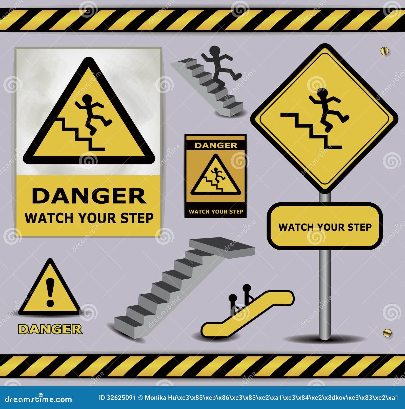 sign danger watch your step warning collection stock image shamrock vector image free shamrock vector image