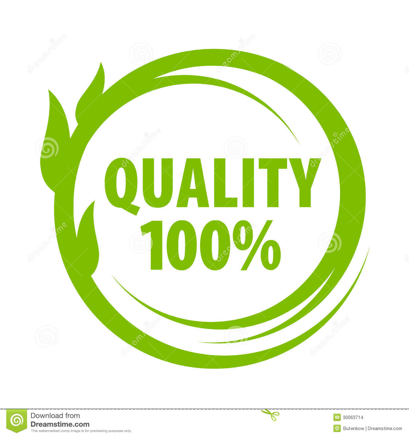 Mark Of Outstanding Quality Stock Images - Image: 30063714