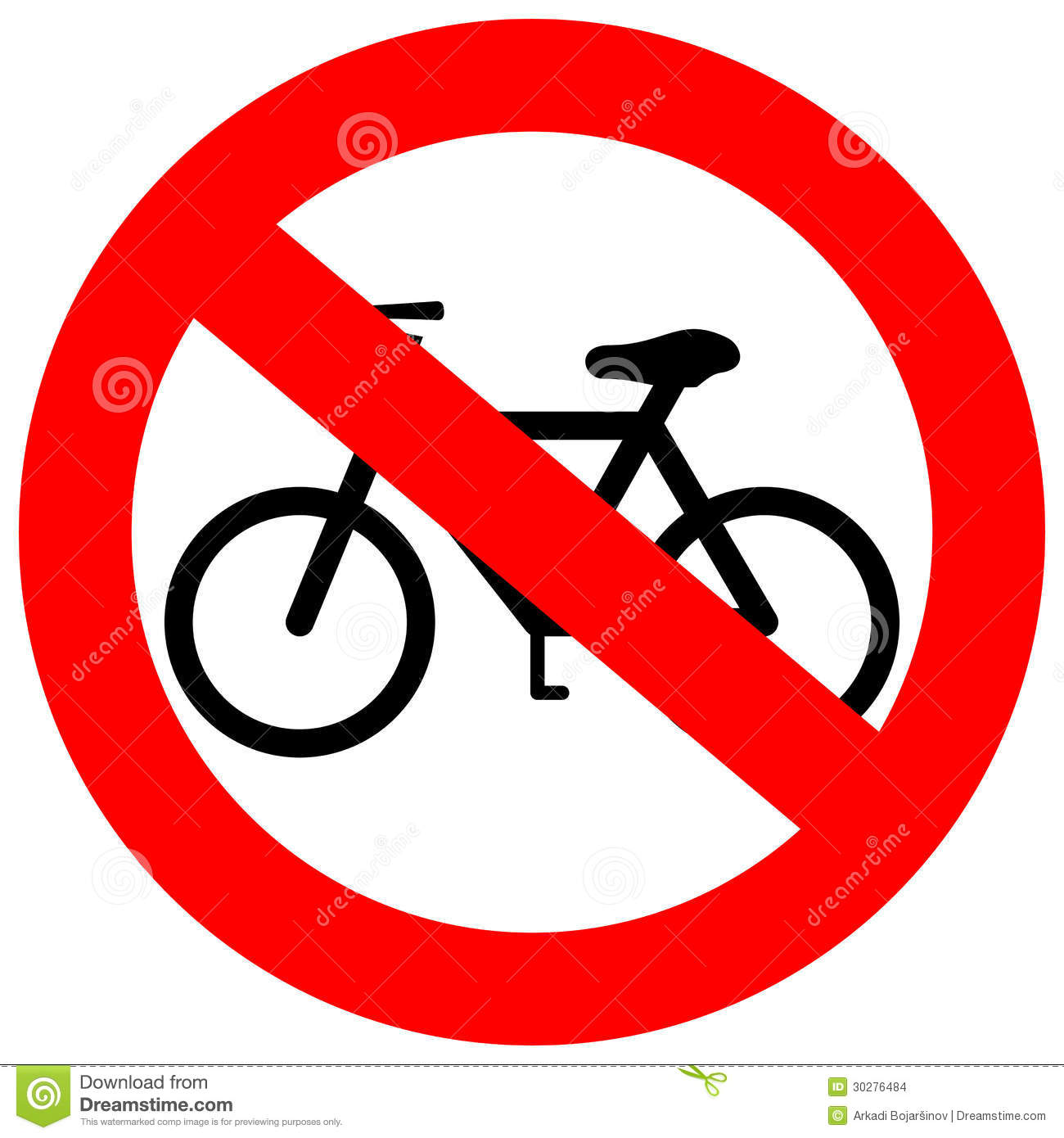 Vector Sign No Bicycle Stock Images - Image: 30276484