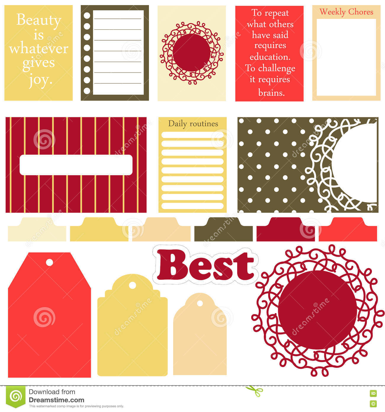 Vector signs and symbols for organized your planner stock vector signs and symbols for organized your planner cute decor buycottarizona Images