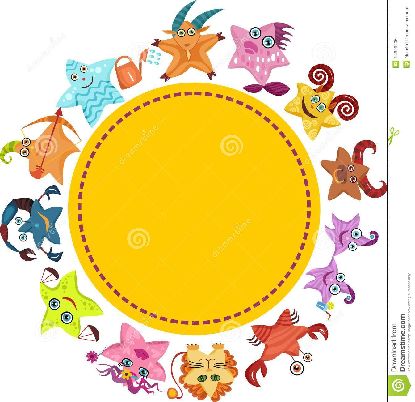 Download Vector signs of zodiac stock vector. Illustration of business - 14689005